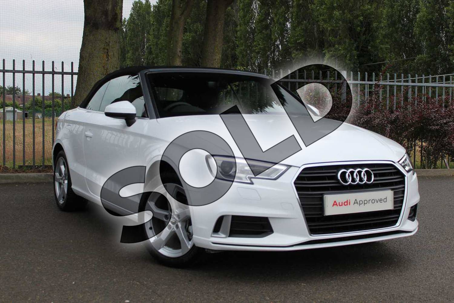 2019 Audi A3 Cabriolet 35 TFSI Sport 2dr in Ibis White at Coventry Audi