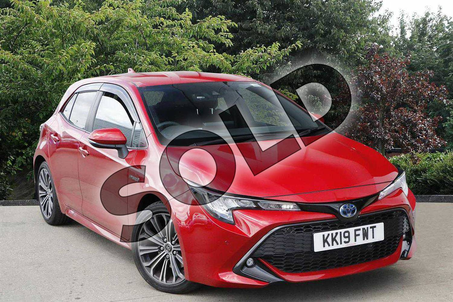 2019 Toyota Corolla Hatchback 2.0 VVT-i Hybrid Design 5dr CVT in Red at Listers Toyota Nuneaton