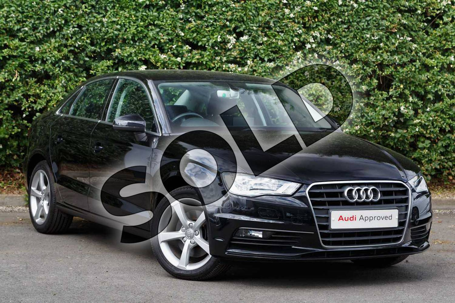 2016 Audi A3 Diesel Saloon Diesel 2.0 TDI 184 Sport 4dr in Mythos Black, metallic at Worcester Audi