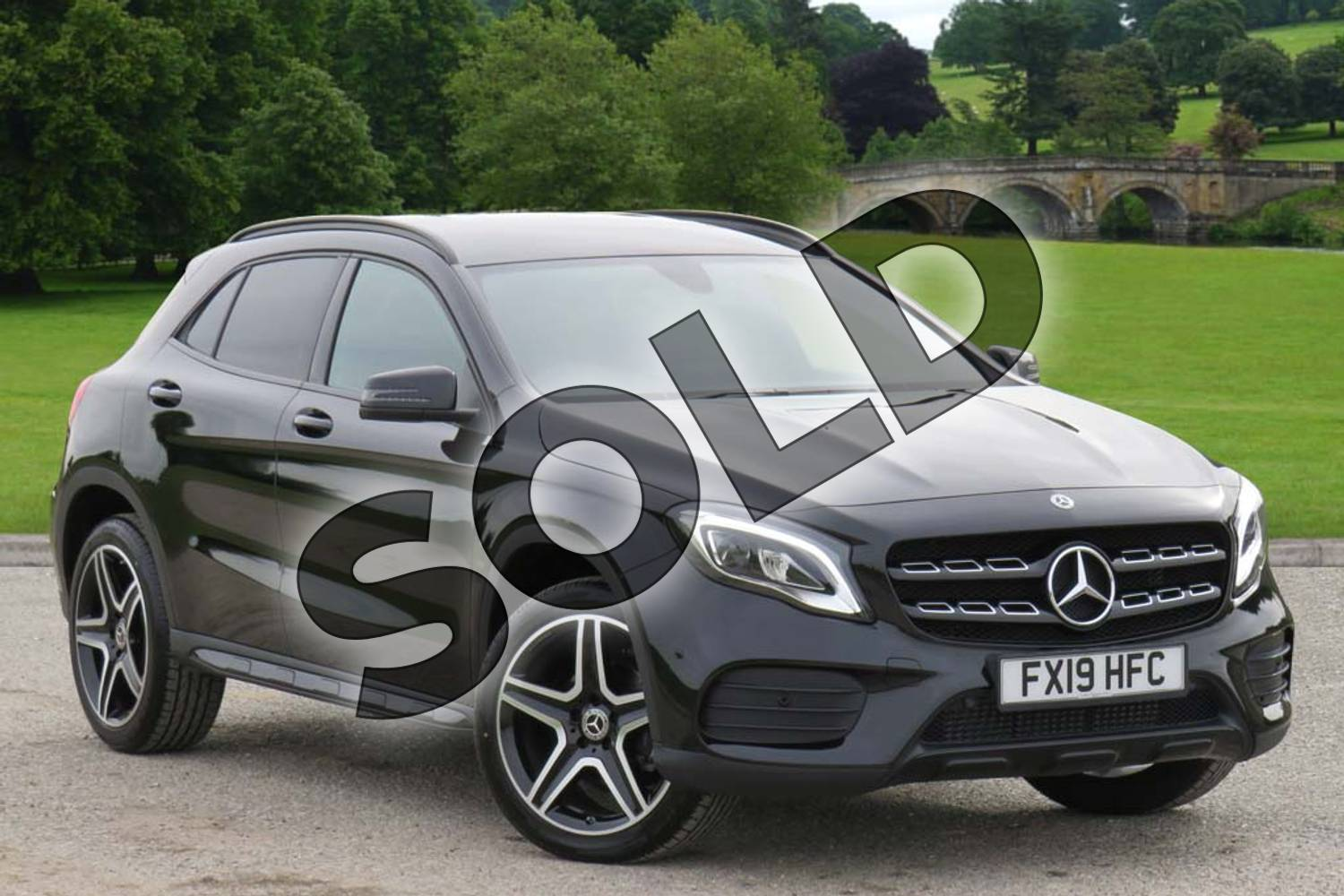 2019 Mercedes-Benz GLA Class Hatchback GLA 200 AMG Line Edition 5dr Auto in Cosmos Black Metallic at Mercedes-Benz of Boston