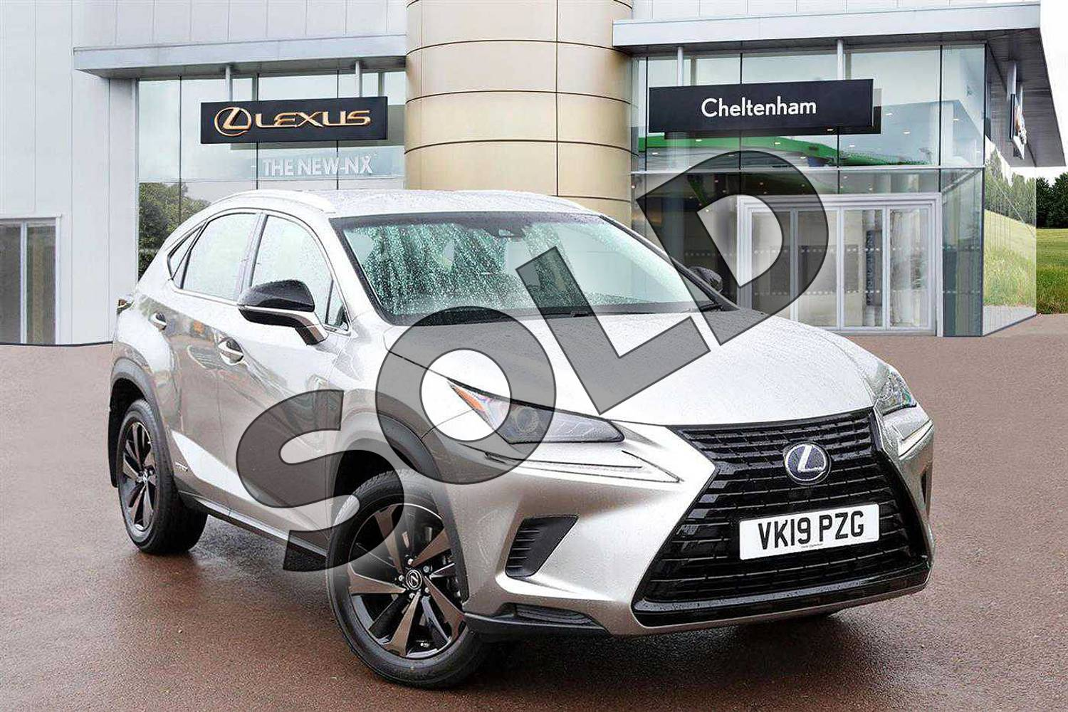 2019 Lexus NX Estate 300h 2.5 5dr CVT (Sport pack) in Sonic Titanium at Lexus Cheltenham