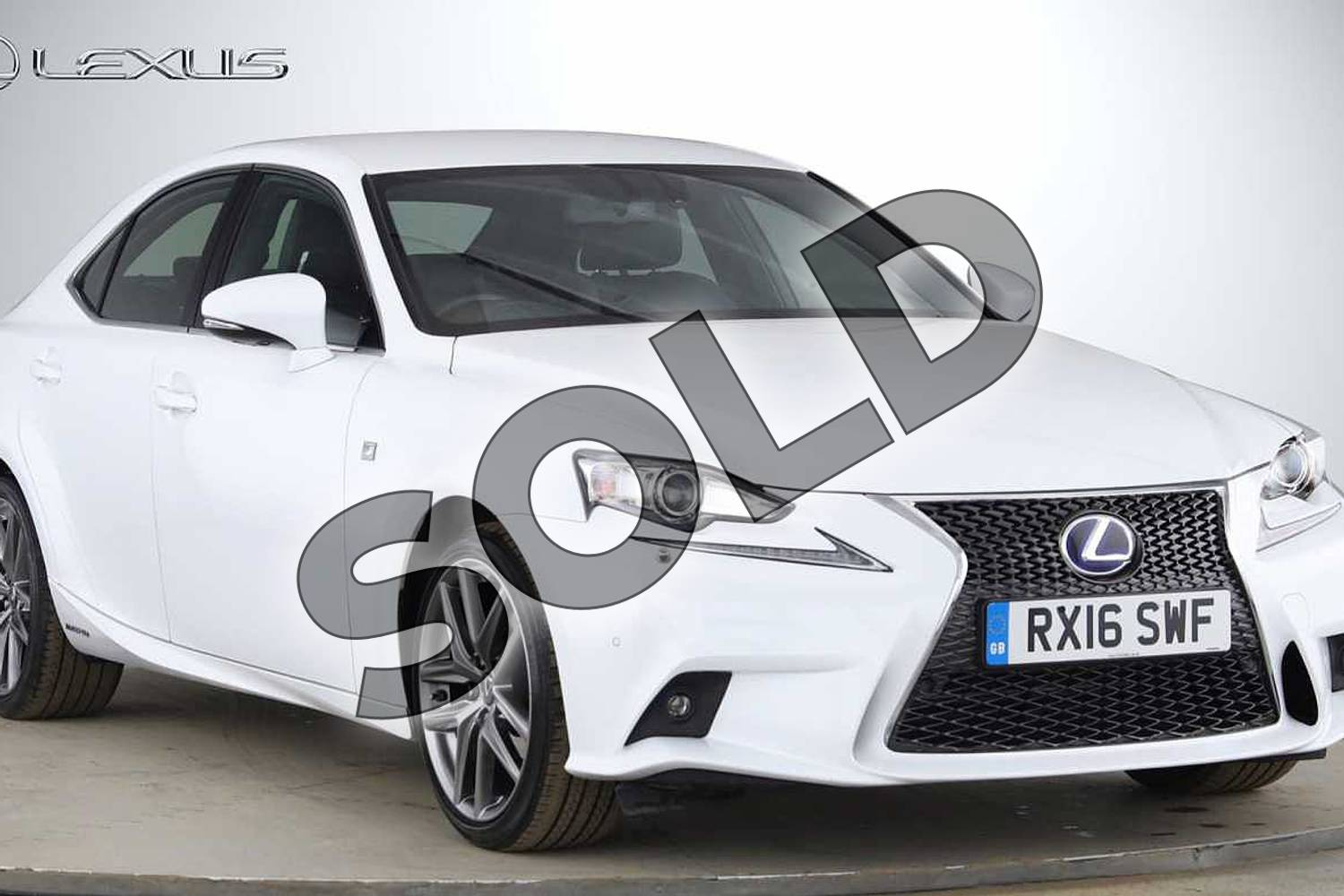 2016 Lexus IS Saloon 300h F-Sport 4dr CVT Auto in F Sport White at Lexus Cheltenham