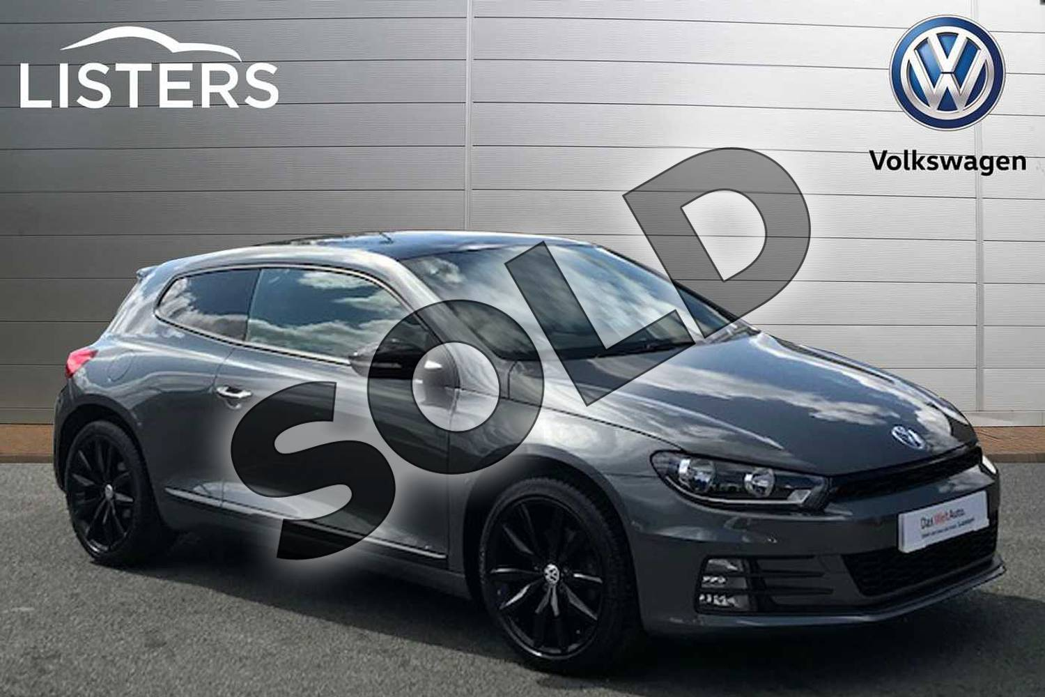 2016 Volkswagen Scirocco Diesel Coupe Diesel 2.0 TDI BlueMotion Tech GT Black Edition 3dr in Indium Grey at Listers Volkswagen Stratford-upon-Avon