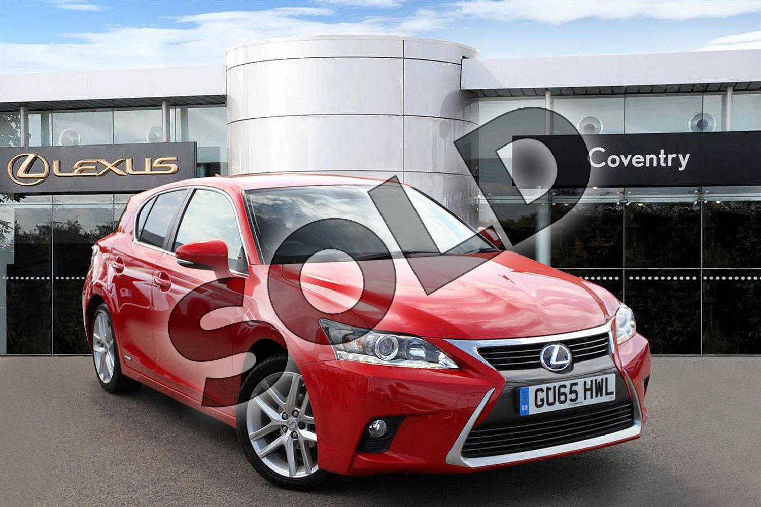 2015 Lexus CT Hatchback 200h 1.8 Advance 5dr CVT Auto in Fuji Red at Lexus Coventry