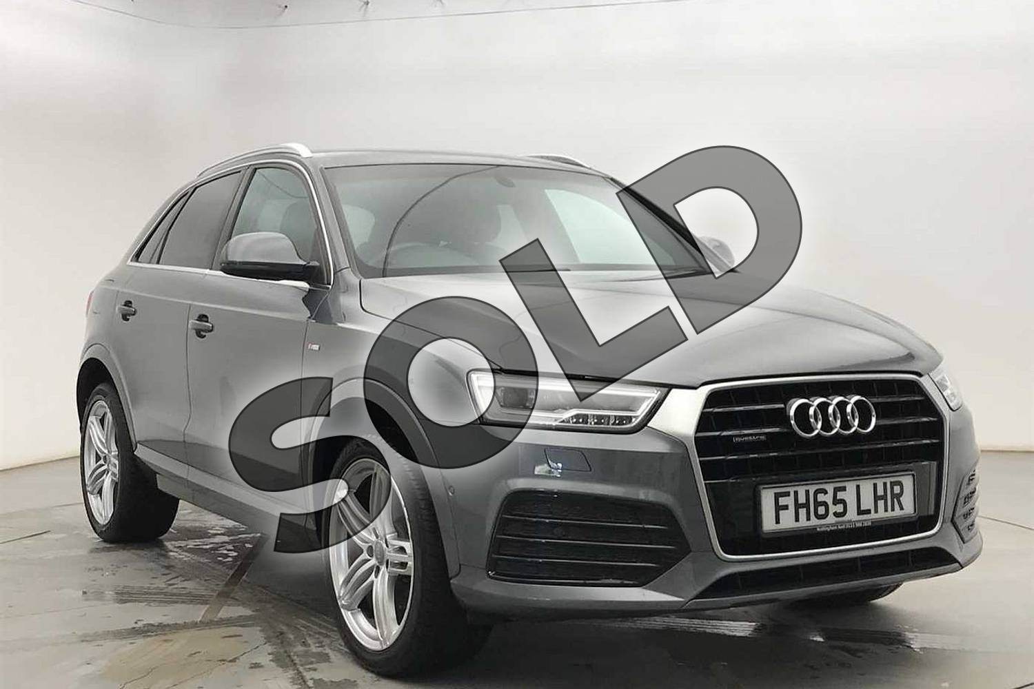 2015 Audi Q3 Estate Special Editions Special Editions 2.0 TDI Quattro S Line Plus 5dr in Monsoon Grey Metallic at Coventry Audi