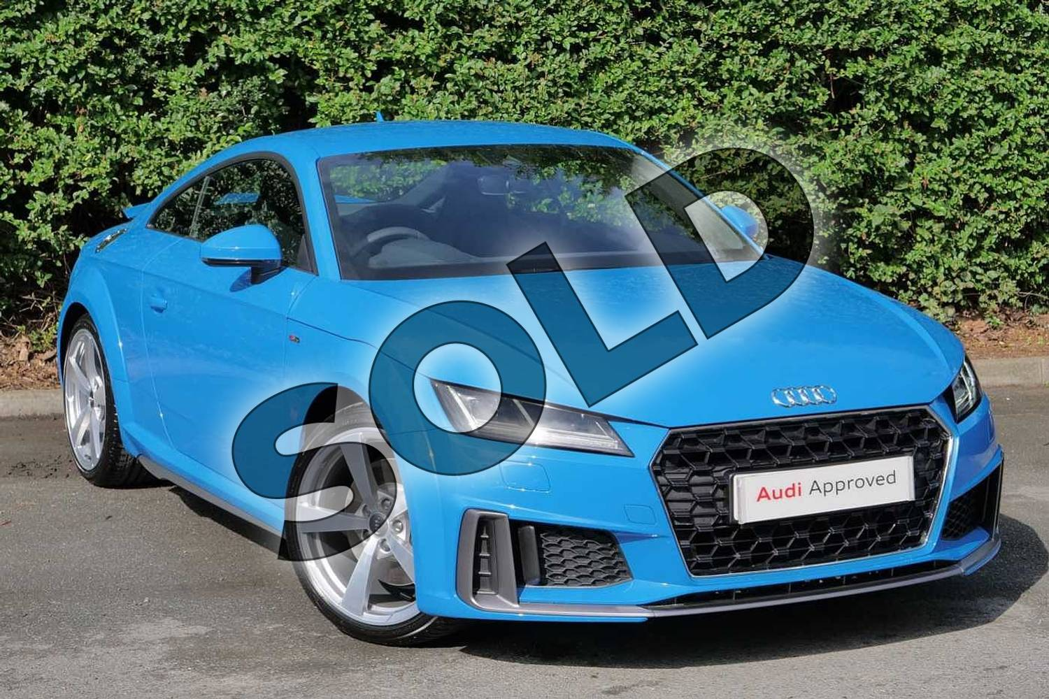 2019 Audi TT Coupe 45 TFSI S Line 2dr S Tronic in Turbo Blue at Worcester Audi