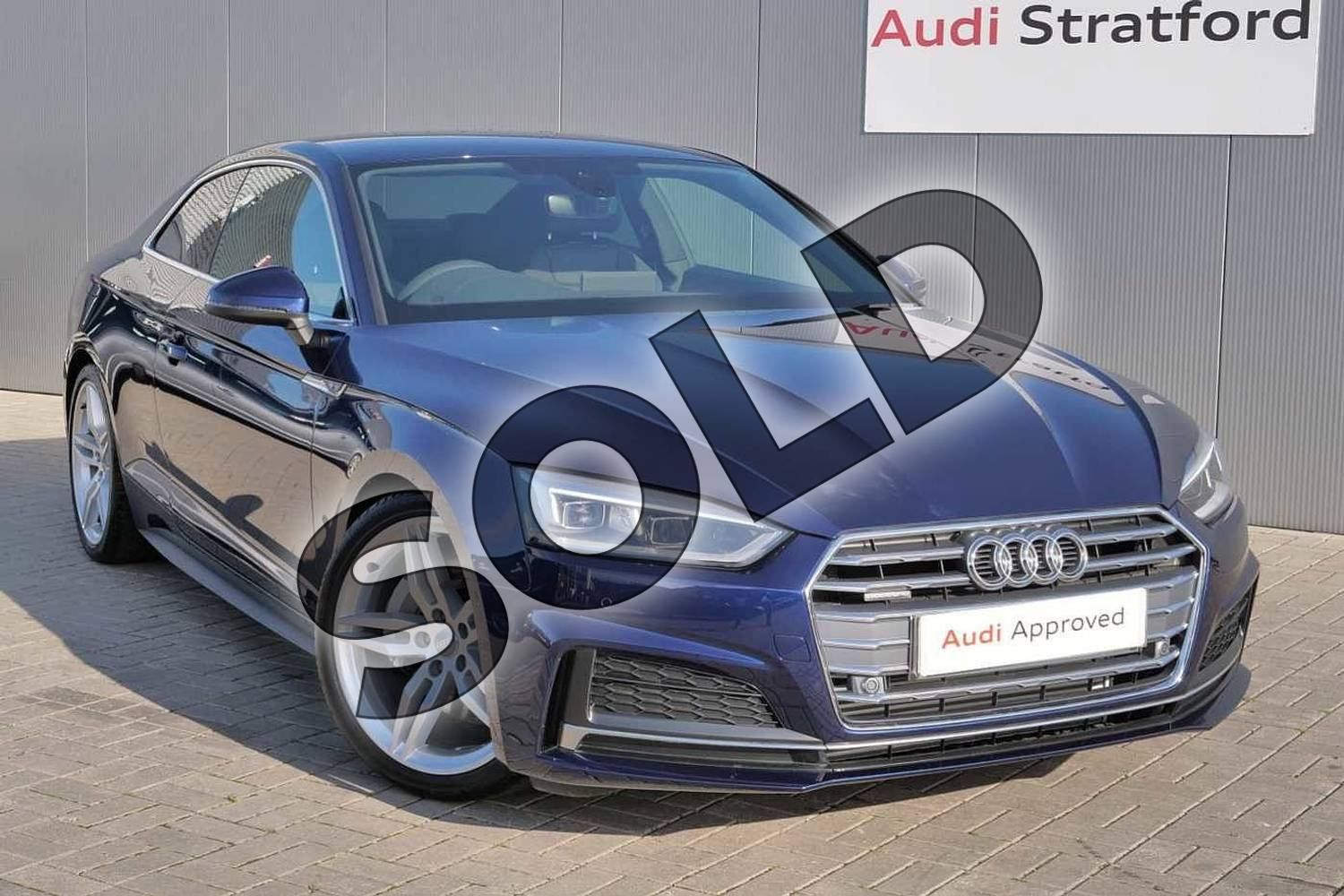 2019 Audi A5 Coupe 45 TFSI Quattro S Line 2dr S Tronic in Navarra Blue Metallic at Stratford Audi