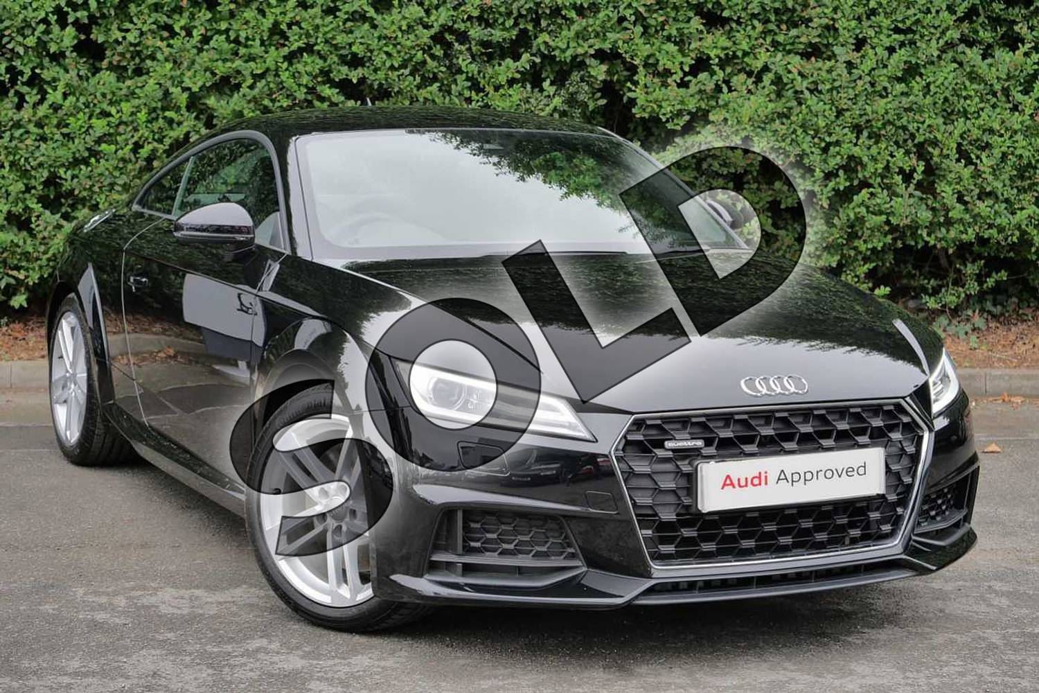 2019 Audi TT Coupe 45 TFSI Quattro Sport 2dr S Tronic in Myth Black Metallic at Worcester Audi
