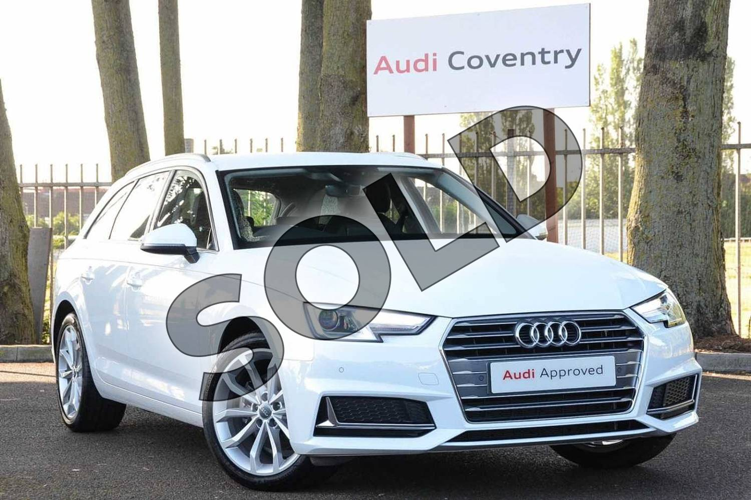 2019 Audi A4 Diesel Avant 35 TDI Sport 5dr S Tronic in Ibis White at Coventry Audi