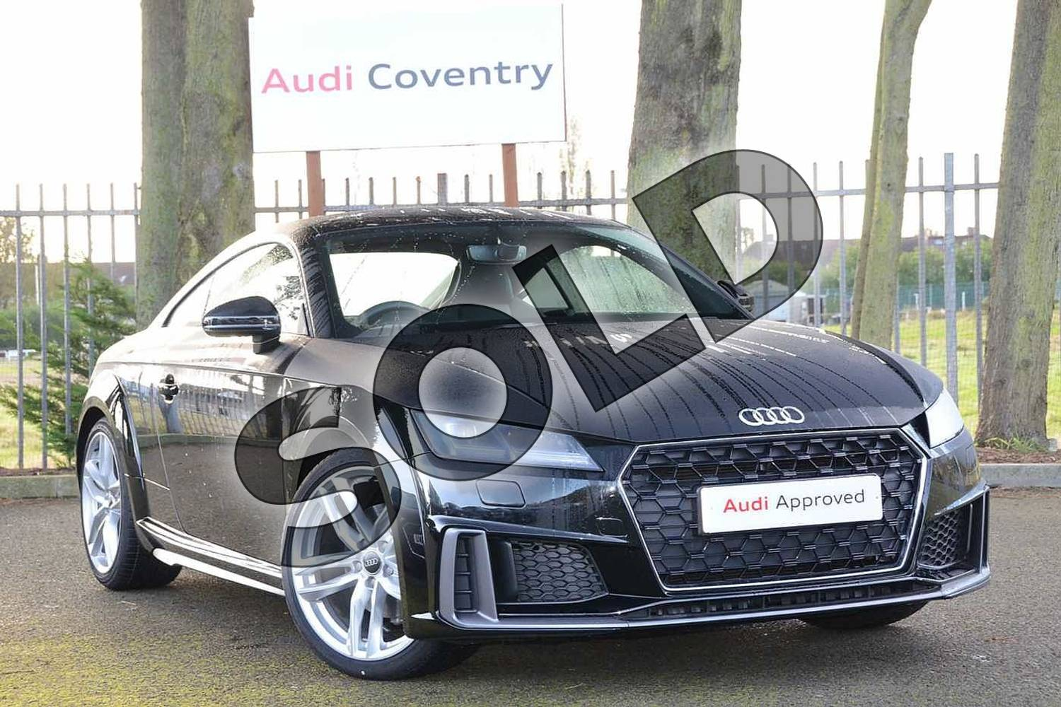 2019 Audi TT Coupe 40 TFSI S Line 2dr S Tronic in Myth Black Metallic at Coventry Audi