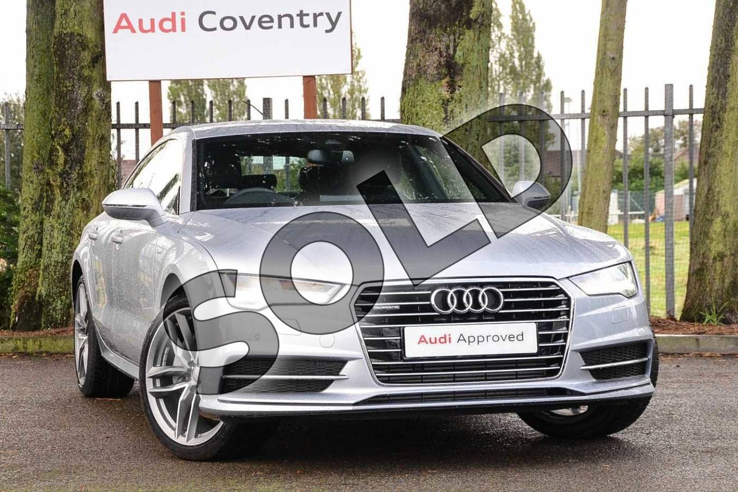 2019 Audi A7 Diesel Sportback 3.0 TDI Quattro 272 S Line 5dr S Tronic in Floret Silver Metallic at Coventry Audi