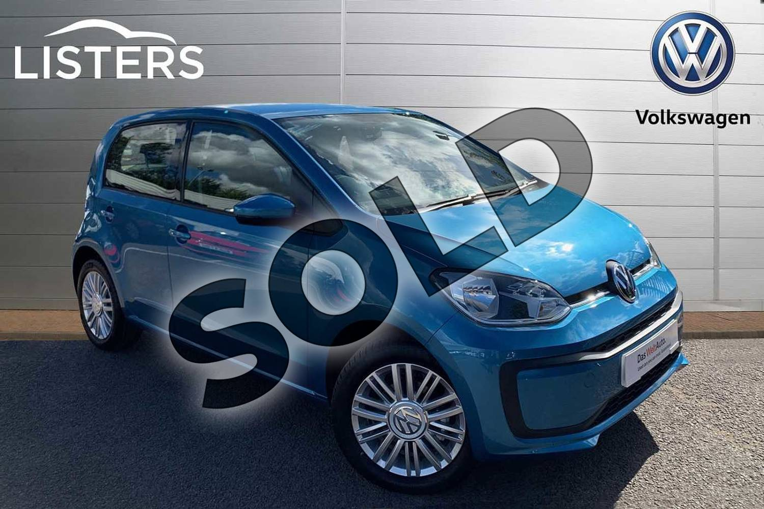 2019 Volkswagen Up Hatchback 1.0 Move Up 5dr in Costa Azule at Listers Volkswagen Leamington Spa