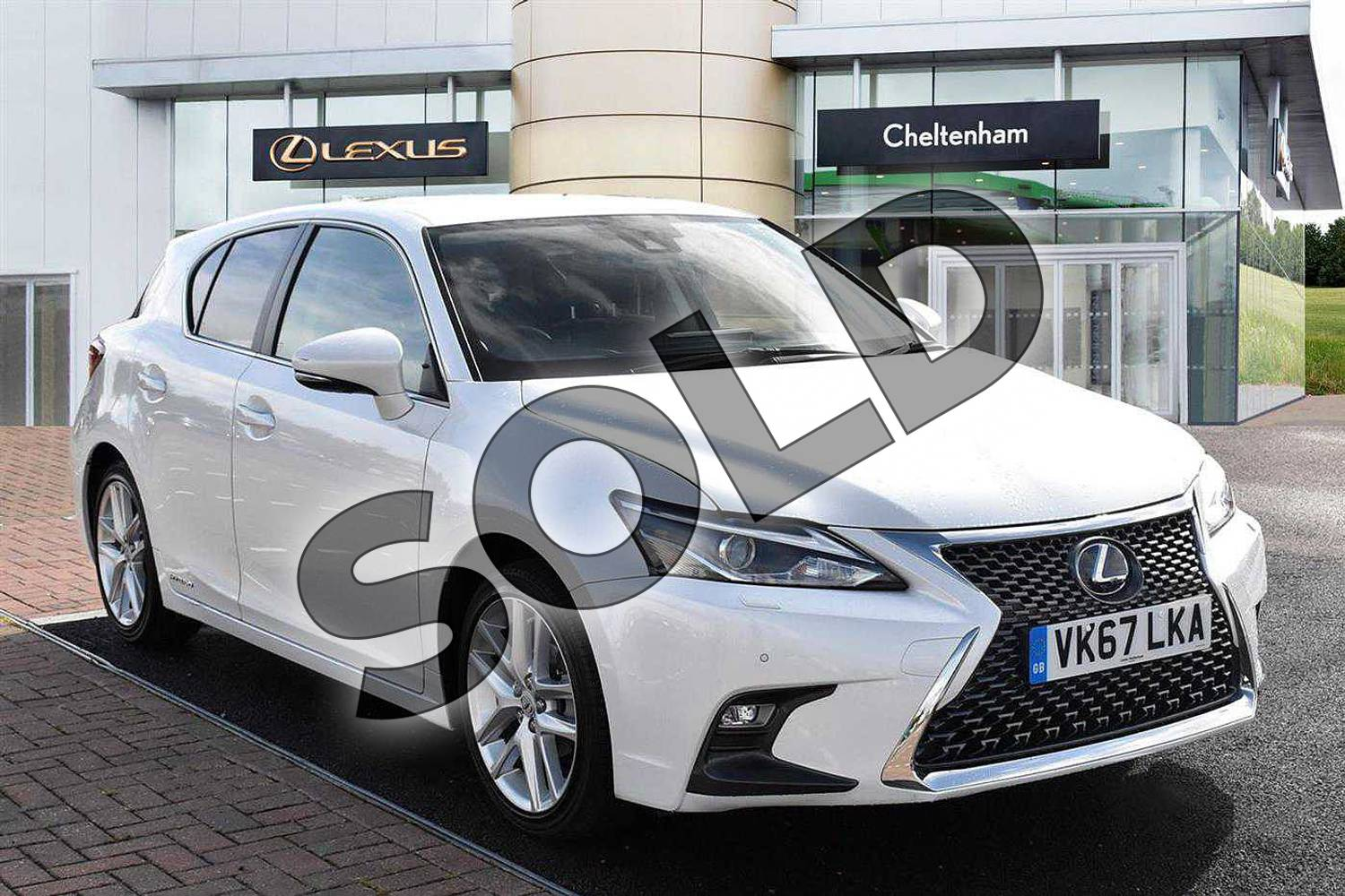 2017 Lexus CT Hatchback 200h 1.8 Premier 5dr CVT in Sonic White at Lexus Cheltenham