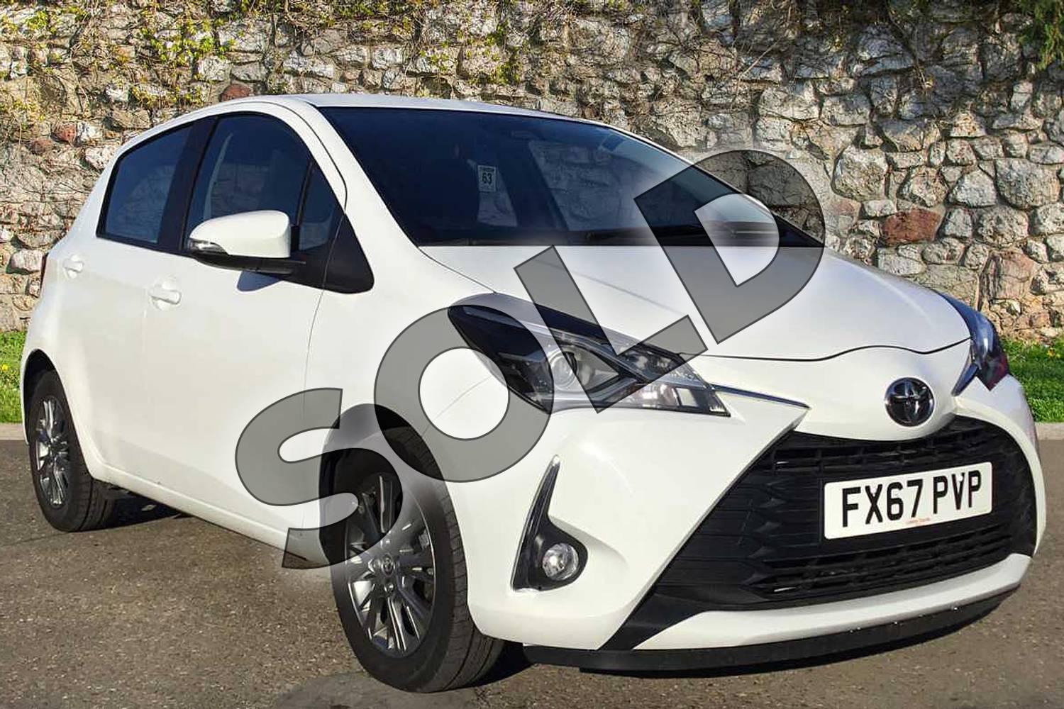 2017 Toyota Yaris Hatchback 1.5 VVT-i Icon 5dr in Pure White at Listers Toyota Boston