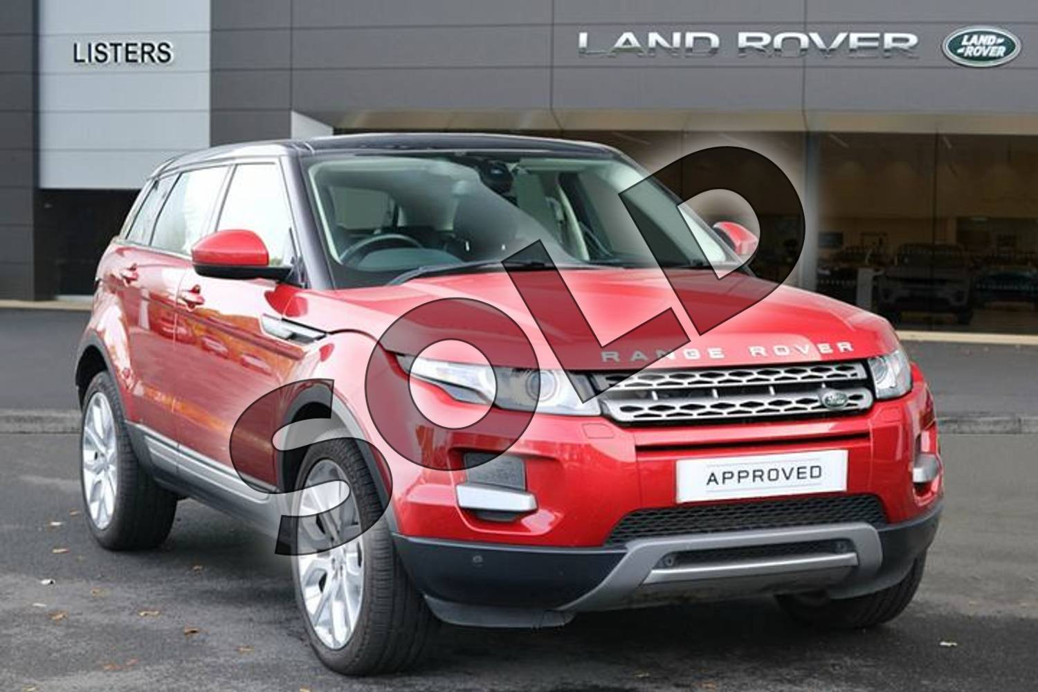 2015 Range Rover Evoque Diesel Hatchback Diesel 2.2 SD4 Pure 5dr (Tech Pack) in Firenze Red at Listers Land Rover Hereford