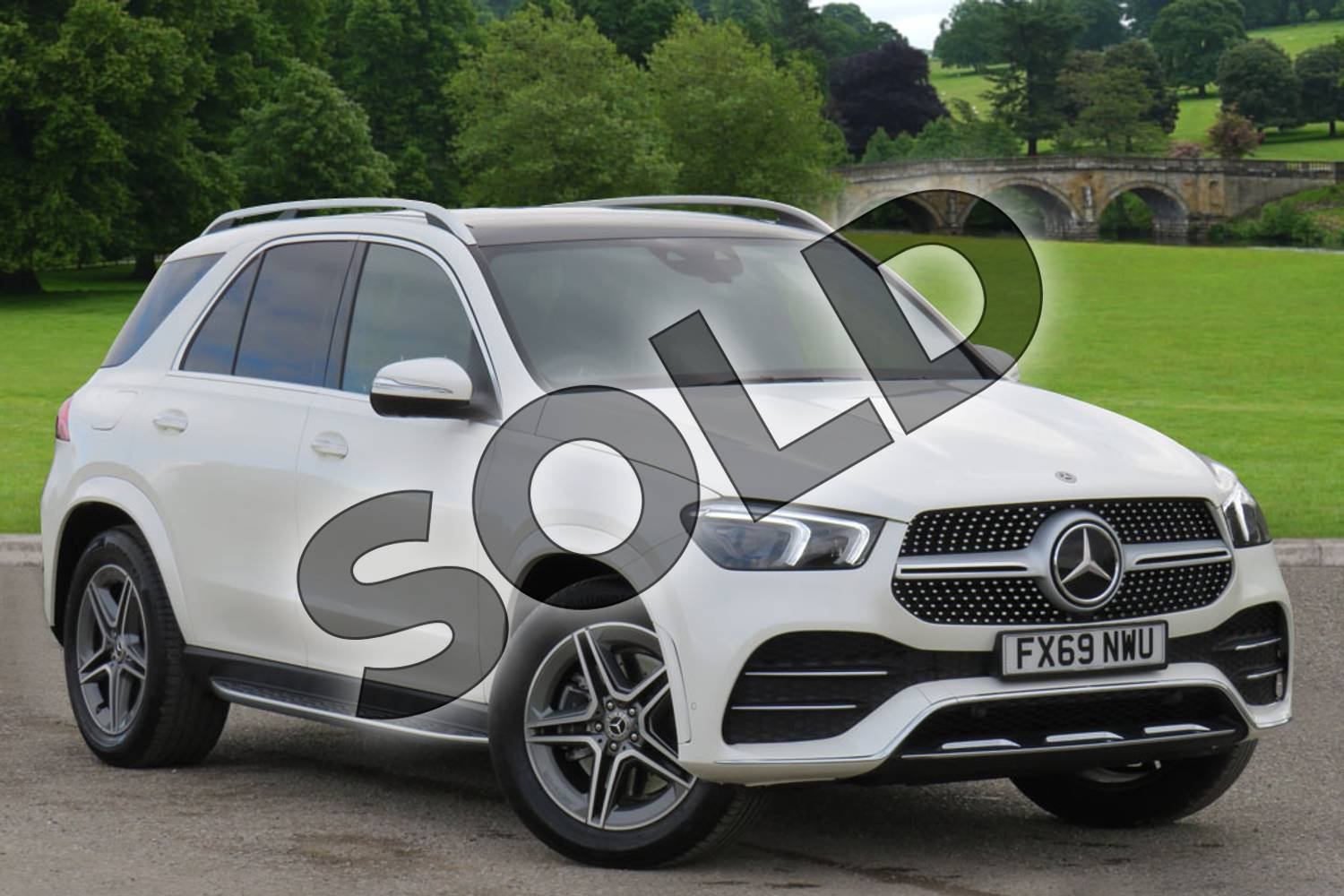 2019 Mercedes-Benz GLE Diesel Estate Diesel GLE 300d 4Matic AMG Line Prem + 5dr 9G-Tron (7 St) in designo diamond white bright at Mercedes-Benz of Boston