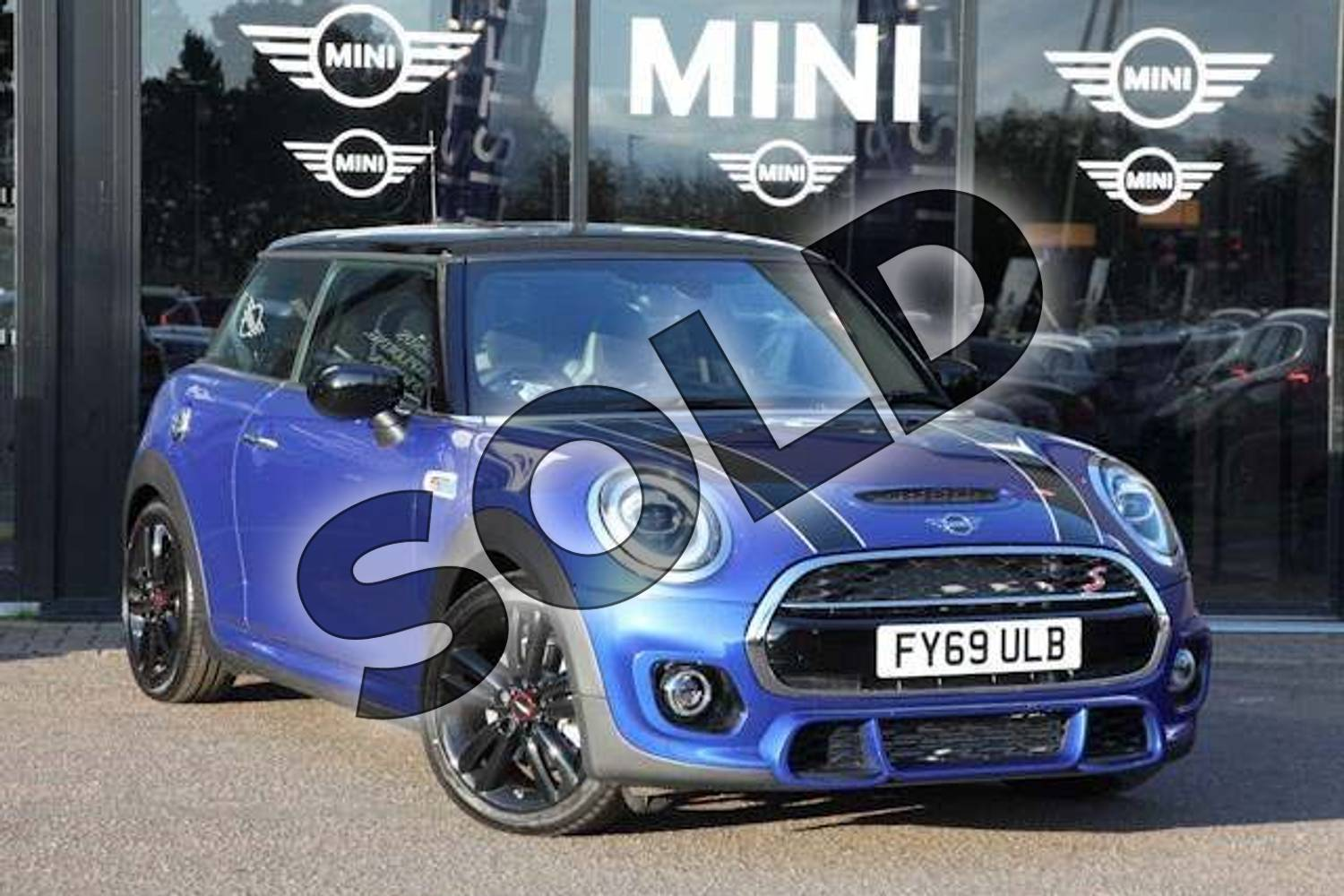 Mini Hatchback 2 0 Cooper S Sport Ii 3dr Auto Starlight Blue With Dinamica Leather Recaro Sport Seats Interior