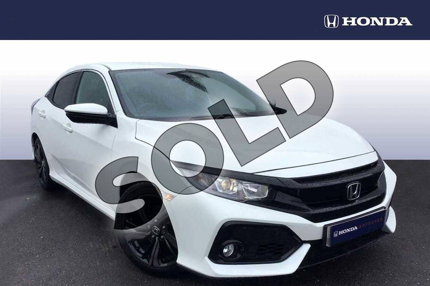 2018 Honda Civic Hatchback 1.0 VTEC Turbo SR 5dr in White Orchid at Listers Honda Solihull