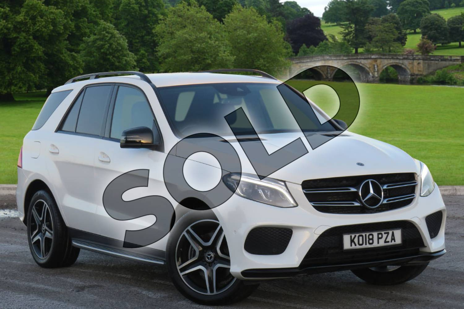 2018 Mercedes-Benz GLE Diesel Estate Diesel GLE 250d 4Matic AMG Night Edition 5dr 9G-Tronic in polar white at Mercedes-Benz of Hull