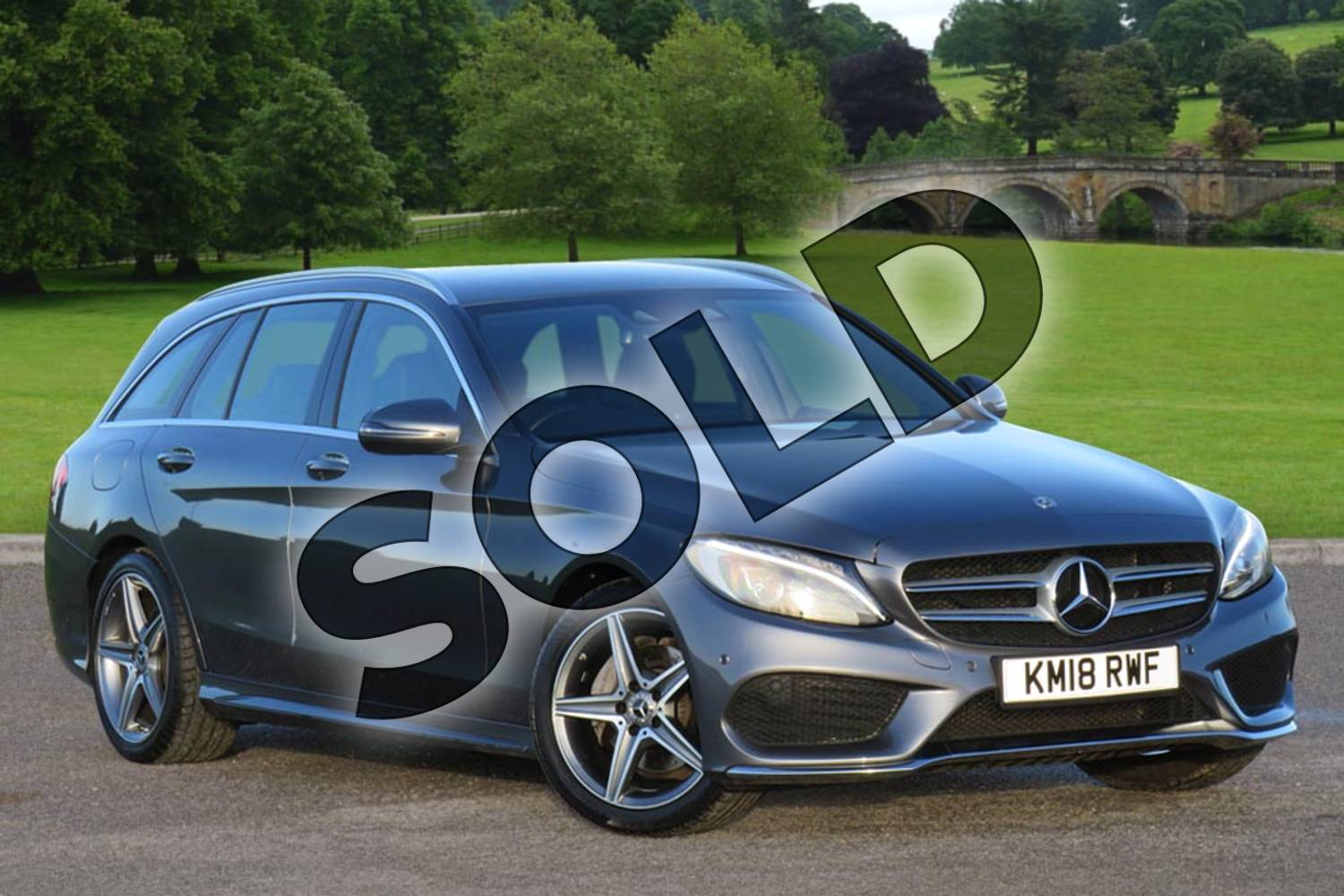 2018 Mercedes-Benz C Class Diesel Estate Diesel C220d AMG Line 5dr 9G-Tronic in selenite grey metallic at Mercedes-Benz of Boston