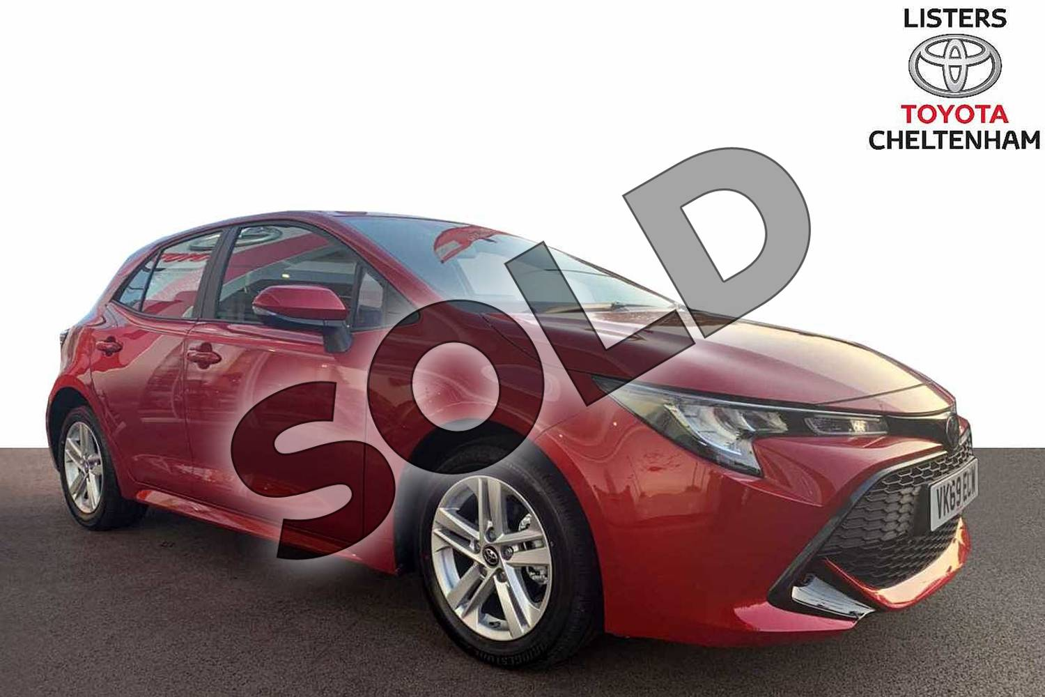 2019 Toyota Corolla Hatchback 1.2T VVT-i Icon 5dr in Scarlet Flare at Listers Toyota Cheltenham