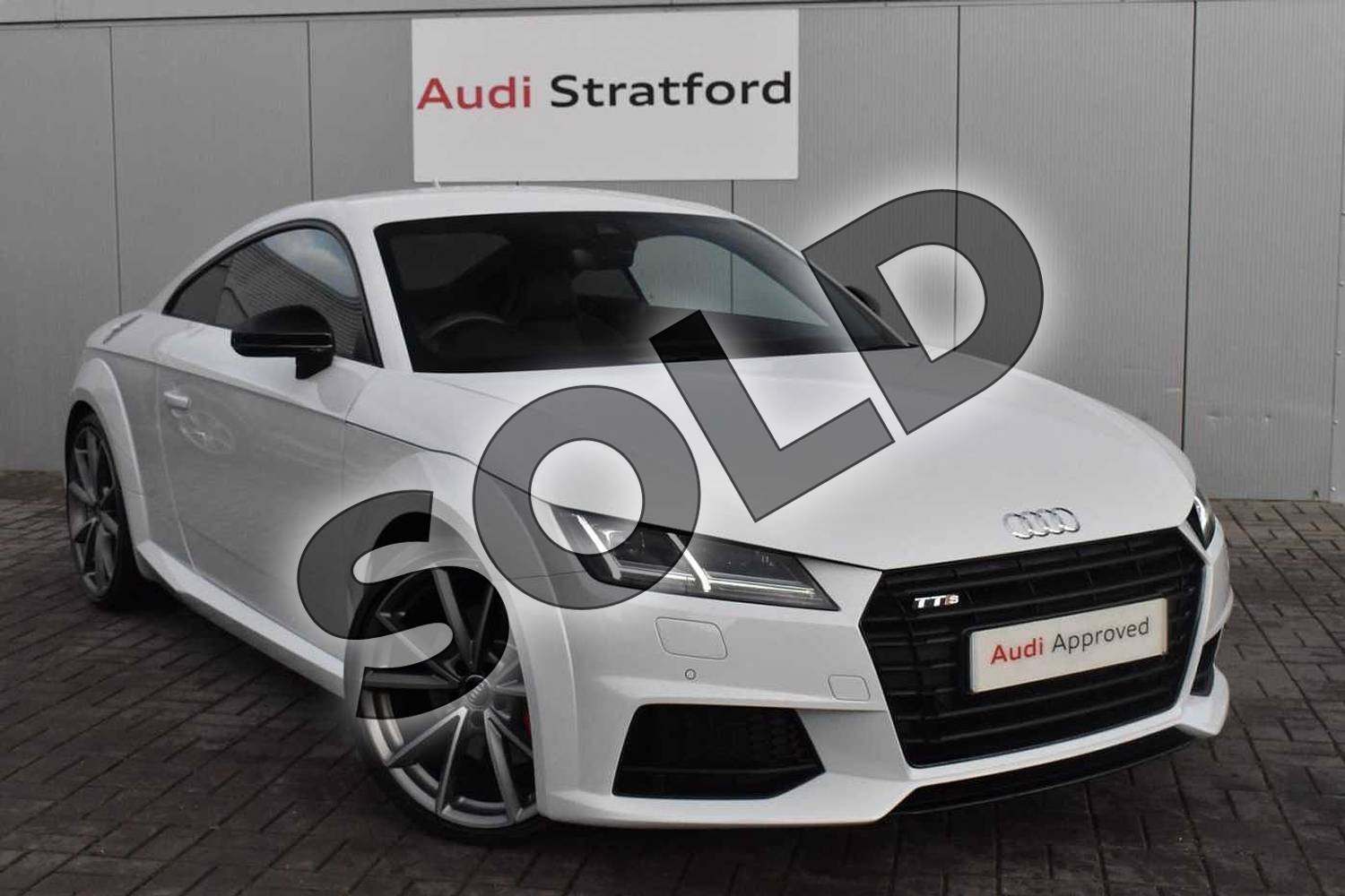 2017 Audi TT Coupe Special Editions Special Editions 2.0T FSI Quattro TTS Black Edition 2dr S Tronic in Glacier White Metallic at Stratford Audi