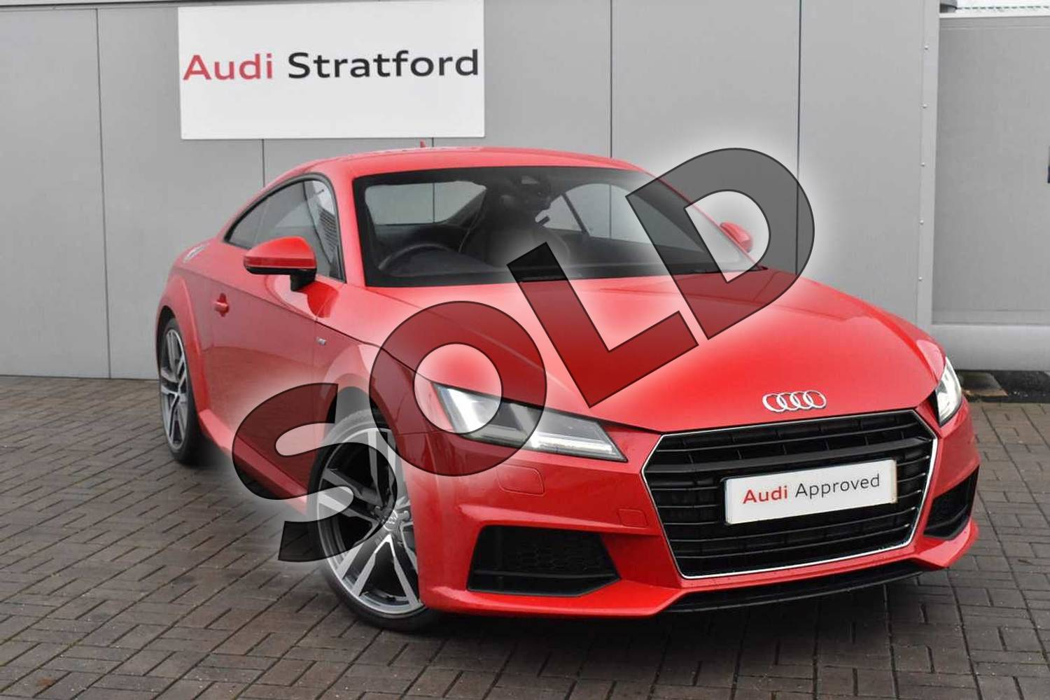 2017 Audi TT Coupe 2.0T FSI S Line 2dr in Tango Red Metallic at Stratford Audi
