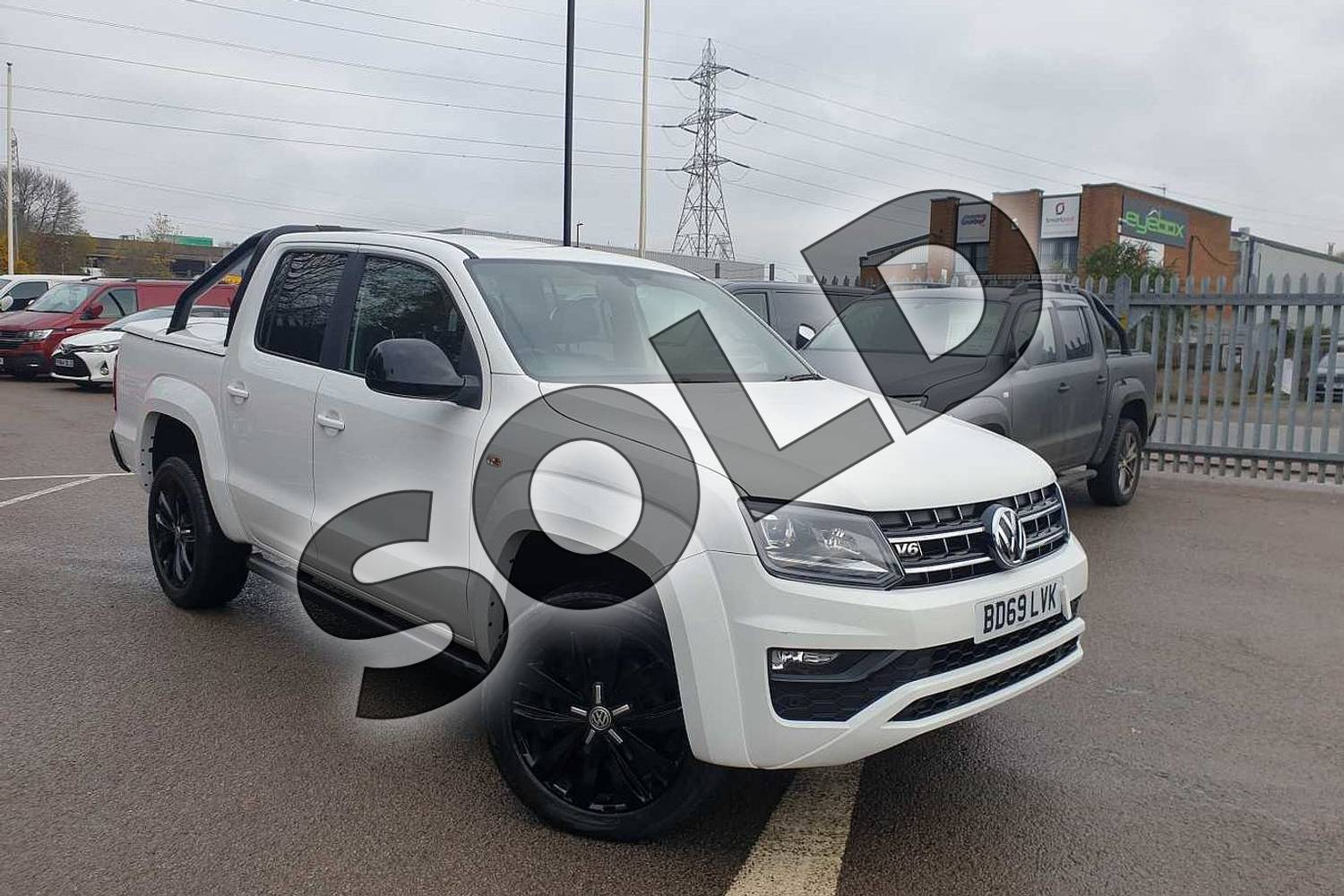 2019 Volkswagen Amarok A33 Special Editions D/Cab Pick Up Black Ed 3.0 V6 TDI 258 BMT 4M Auto in White at Listers Volkswagen Van Centre Coventry