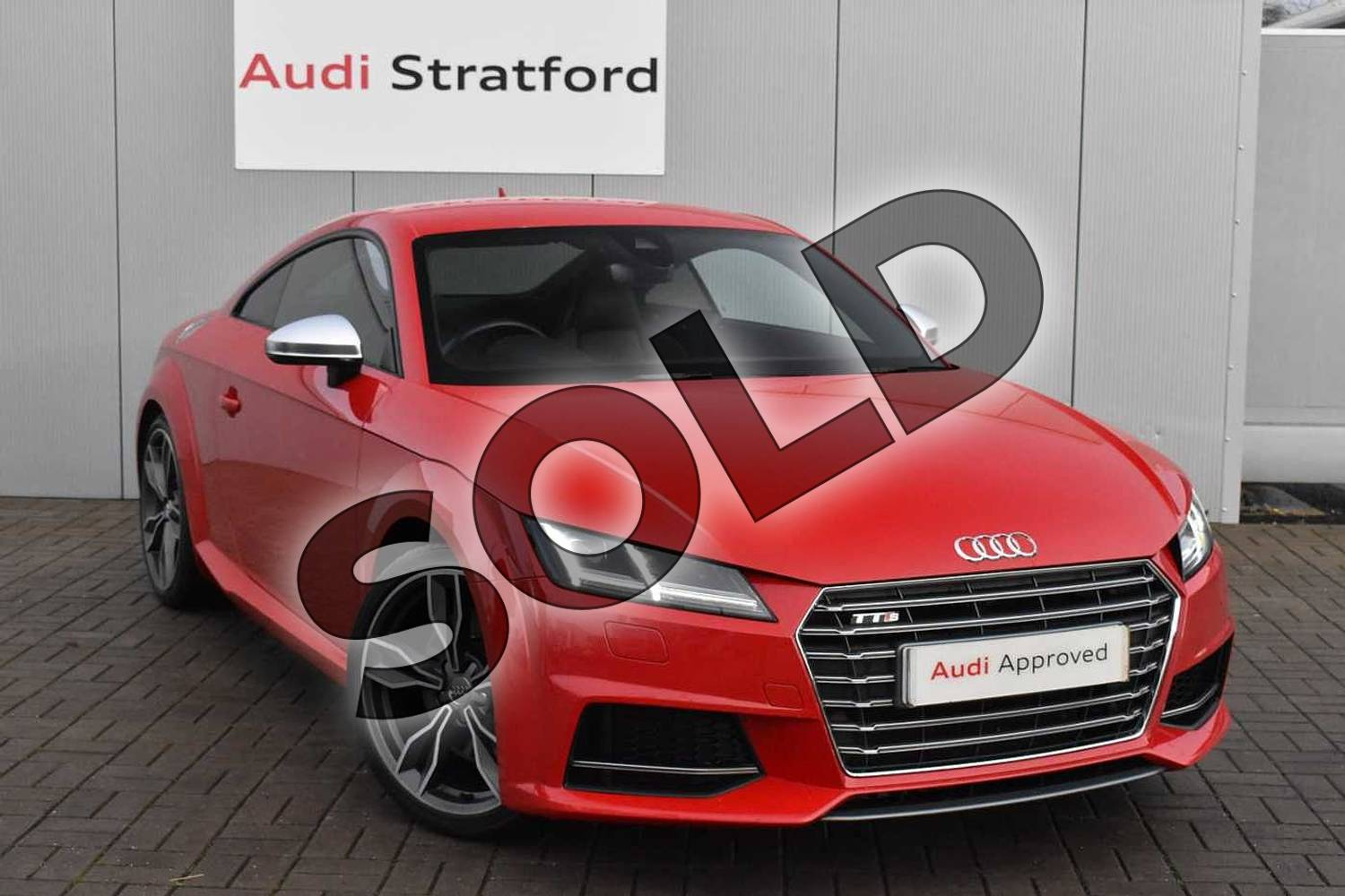 2016 Audi TT Coupe 2.0T FSI Quattro TTS 2dr S Tronic in Tango Red Metallic at Stratford Audi