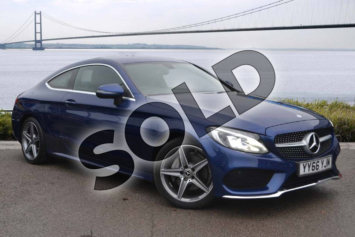 2016 Mercedes-Benz C Class Diesel Coupe Diesel C220d AMG Line 2dr Auto in Brilliant Blue Metallic at Mercedes-Benz of Hull