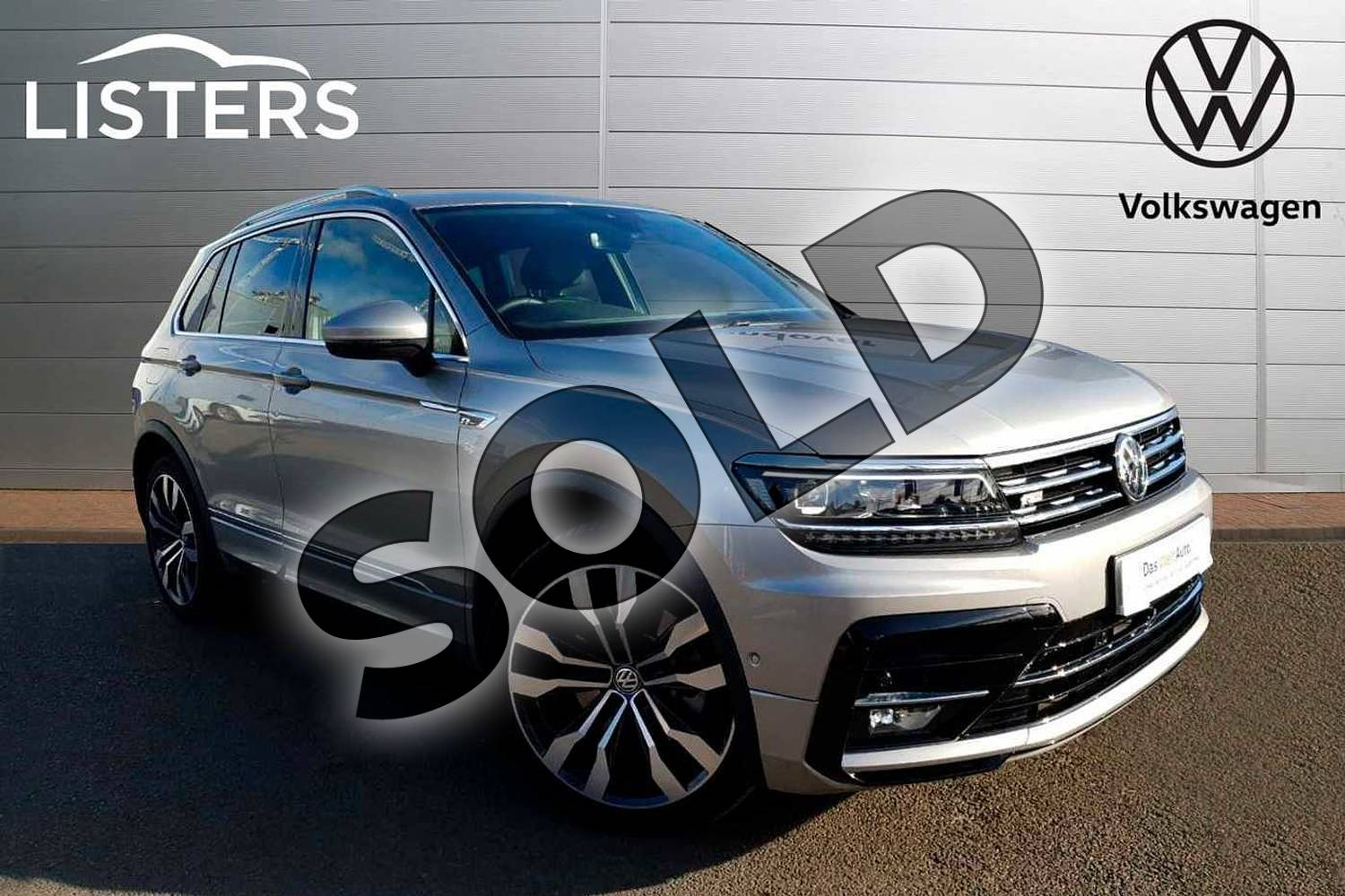 2019 Volkswagen Tiguan Estate 2.0 TSI 230 4Motion R Line Tech 5dr DSG in Tungsten Silver at Listers Volkswagen Coventry