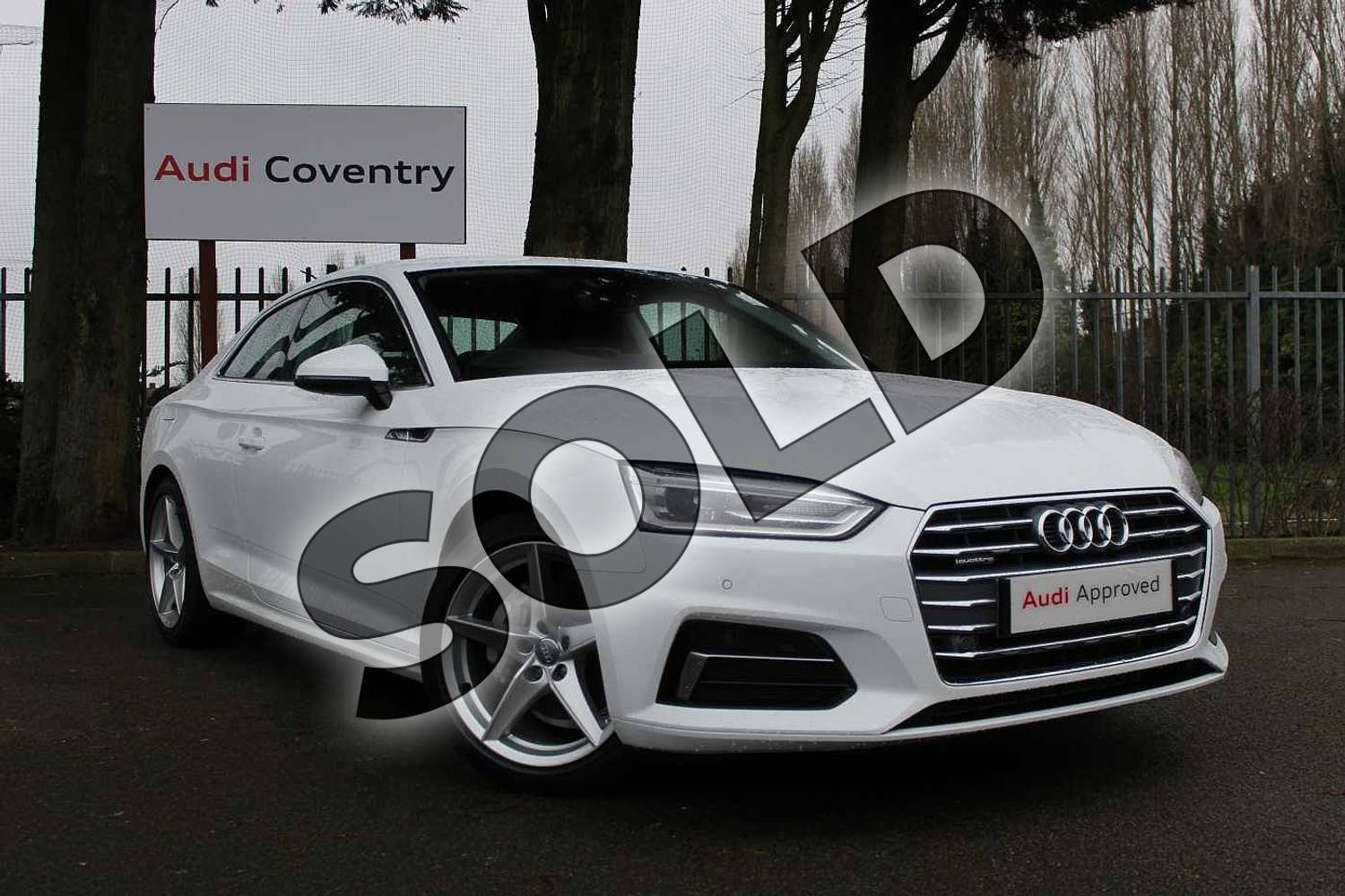 2019 Audi A5 Diesel Coupe 40 TDI Quattro Sport 2dr S Tronic in Ibis White at Coventry Audi