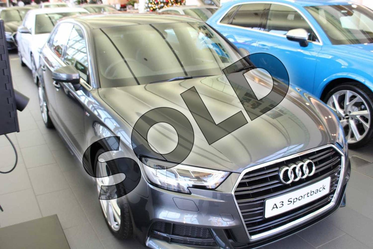 Audi A3 Diesel Sportback 30 Tdi 116 S Line 5dr S Tronic Daytona Grey Pearlescent With Black Rock Gray Interior