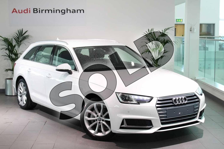 Audi A4 Diesel Avant 40 Tdi Sport 5dr S Tronic Ibis White With Black Titanium Gray Interior