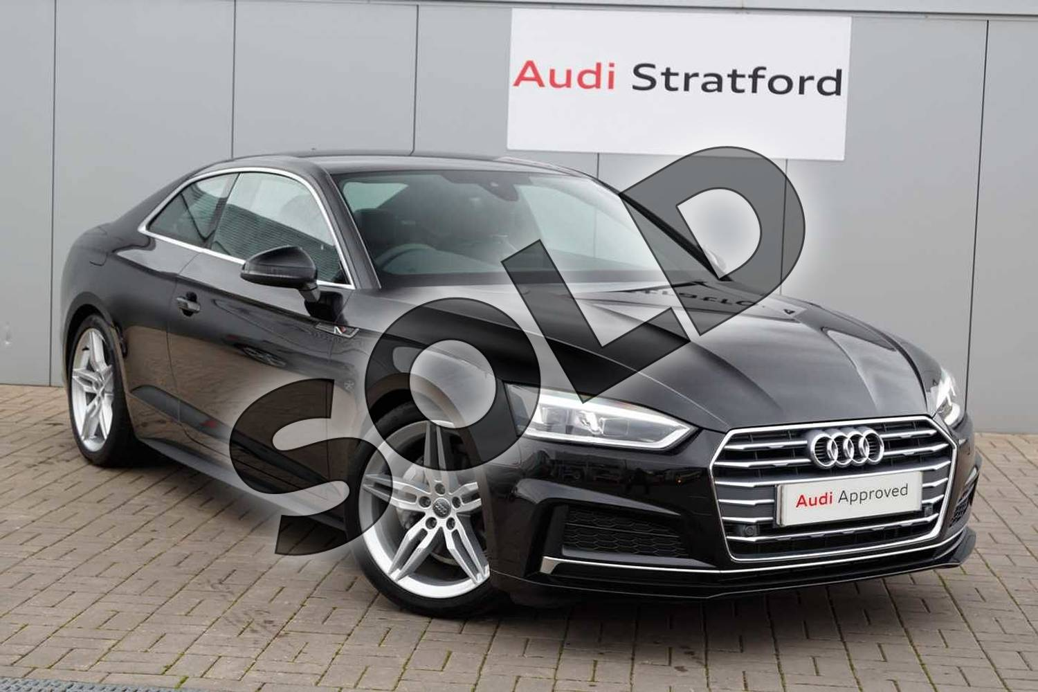 2019 Audi A5 Diesel Coupe 40 TDI S Line 2dr S Tronic in Brilliant Black at Stratford Audi