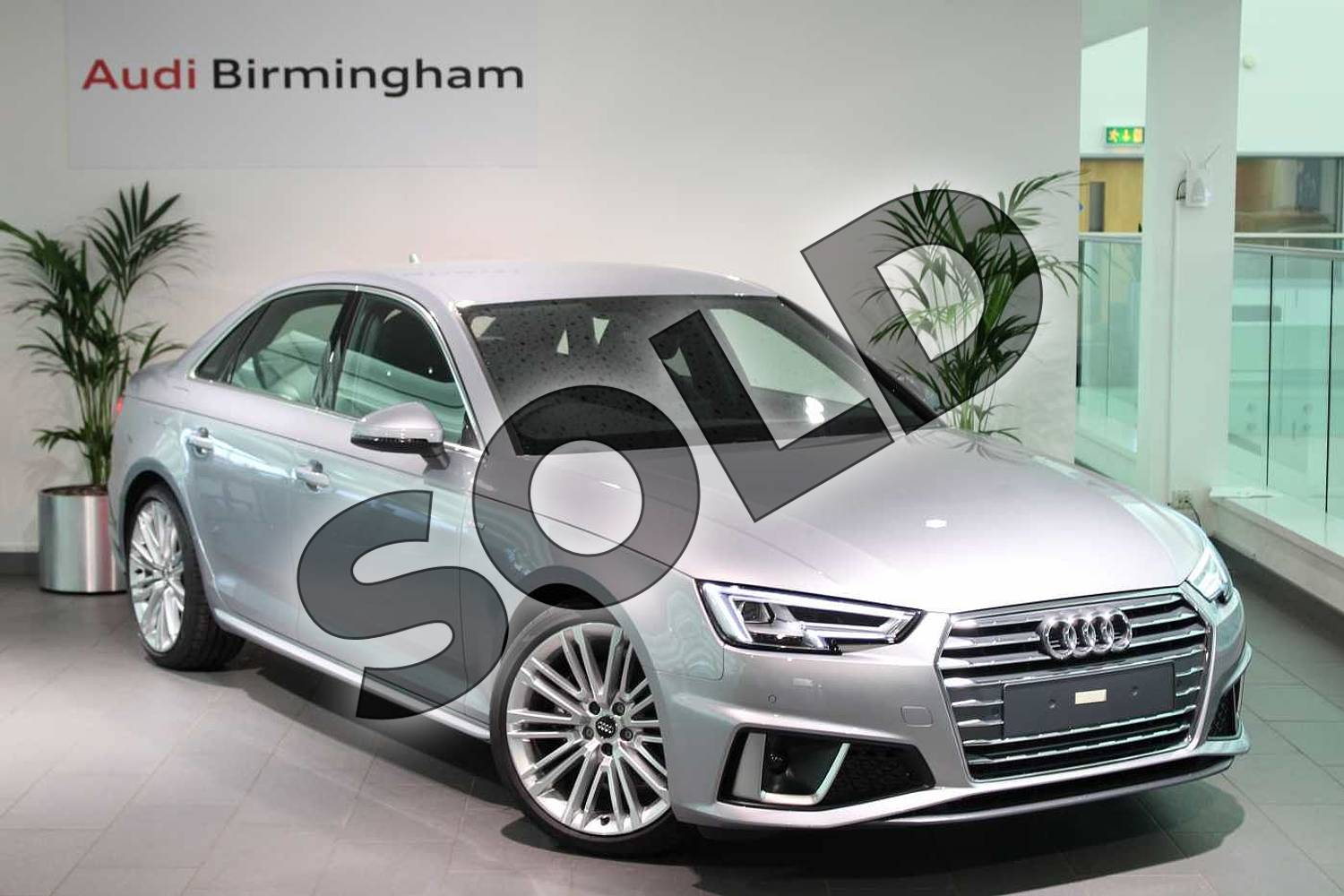 2019 Audi A4 Diesel Saloon 35 TDI S Line 4dr S Tronic in Floret Silver Metallic at Birmingham Audi