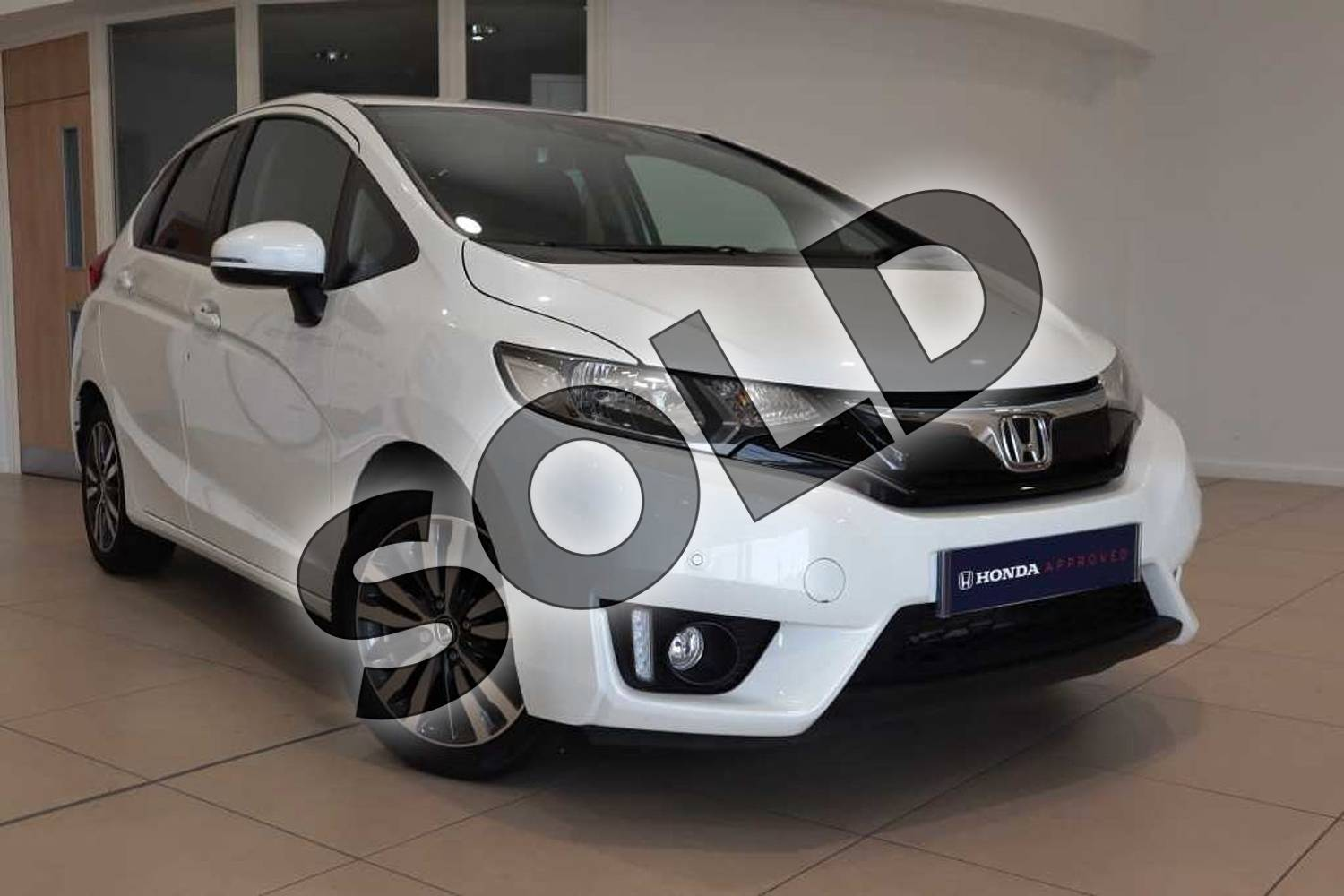 2017 Honda Jazz Hatchback 1.3 EX 5dr CVT in White Orchid at Listers Honda Coventry