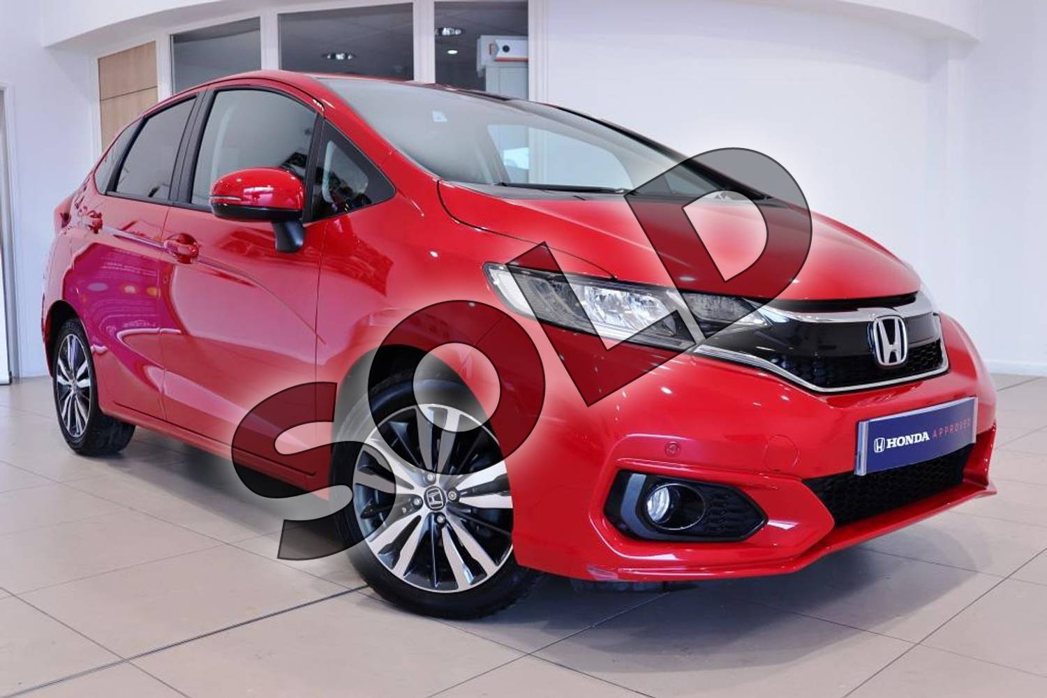 2018 Honda Jazz Hatchback 1.3 EX 5dr CVT in Milano Red at Listers Honda Northampton