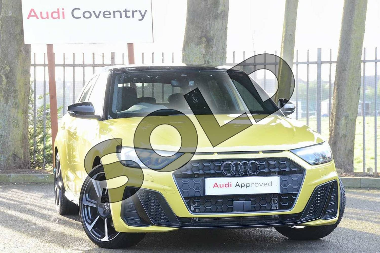 2020 Audi A1 Sportback Special Editions 35 TFSI S Line Style Edition 5dr S Tronic in Python Yellow Metallic at Coventry Audi