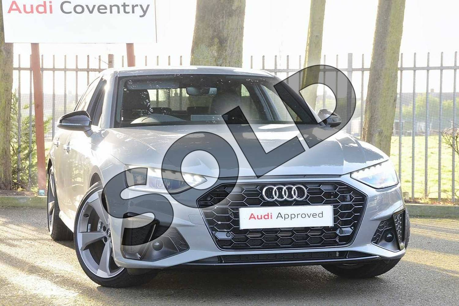 2020 Audi A4 Diesel Saloon 30 TDI Black Edition 4dr S Tronic in Quantum Grey at Coventry Audi