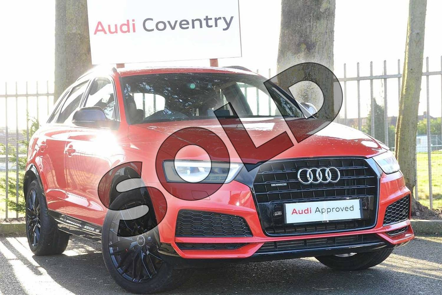 2017 Audi Q3 Estate Special Editions 2.0T FSI Quattro S Line Edition 5dr S Tronic in Misano Red Pearlescent at Coventry Audi