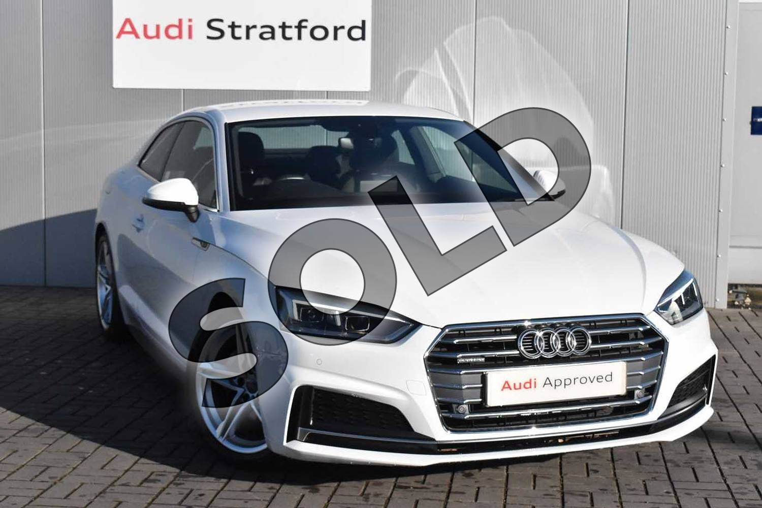 2017 Audi A5 Diesel Coupe 2.0 TDI Quattro S Line 2dr S Tronic in Ibis White at Stratford Audi