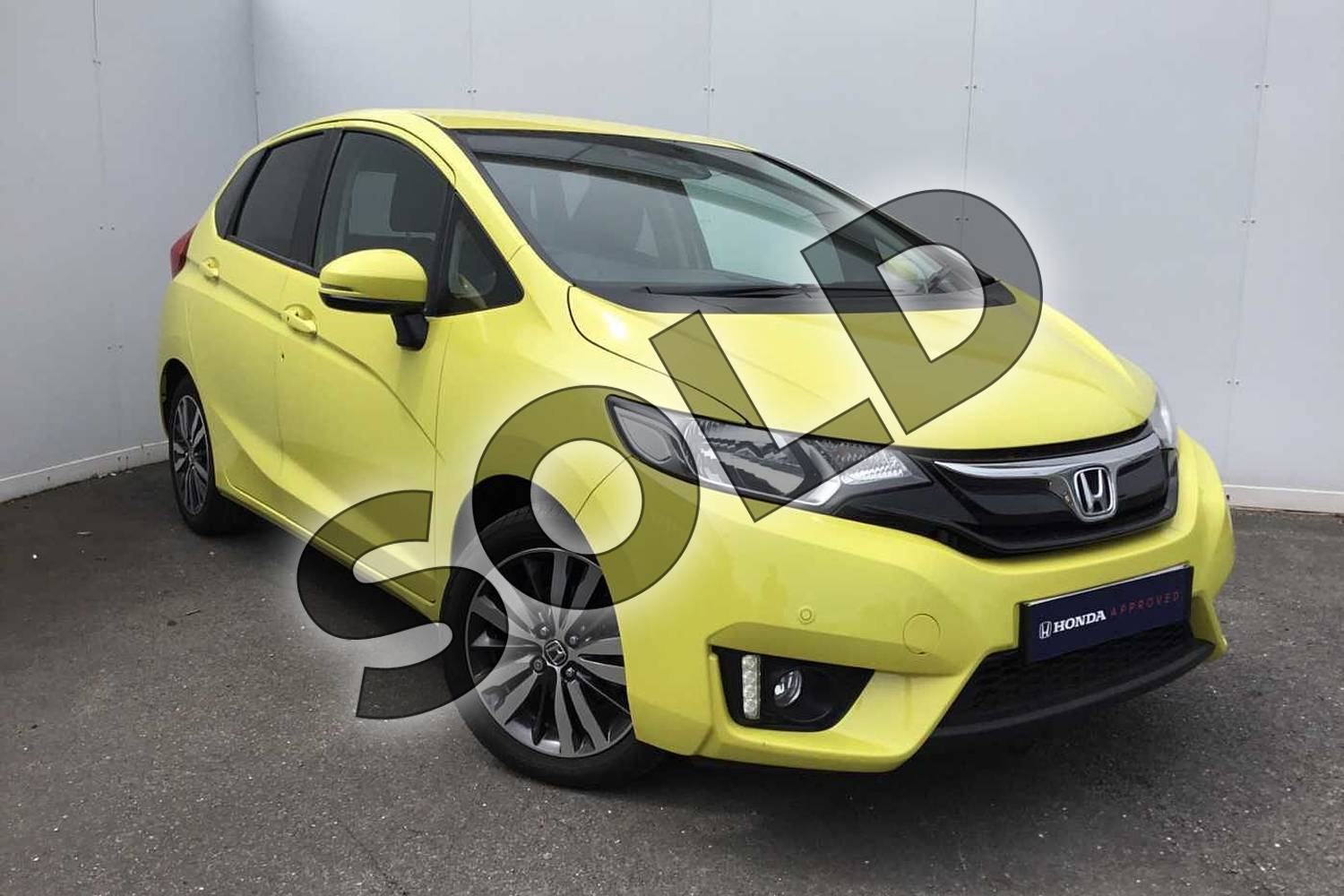2017 Honda Jazz Hatchback 1.3 EX 5dr in Attract Yellow at Listers Honda Coventry