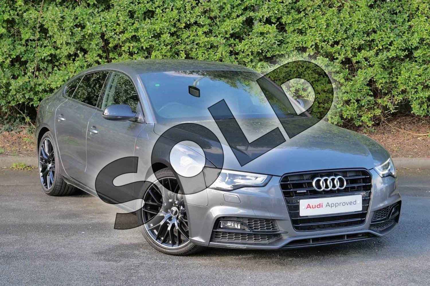 2016 Audi A5 Sportback Special Editions 2.0 TDI 190 Quattro Black Ed Plus 5dr S Tronic 5st in Daytona Grey Pearlescent at Worcester Audi