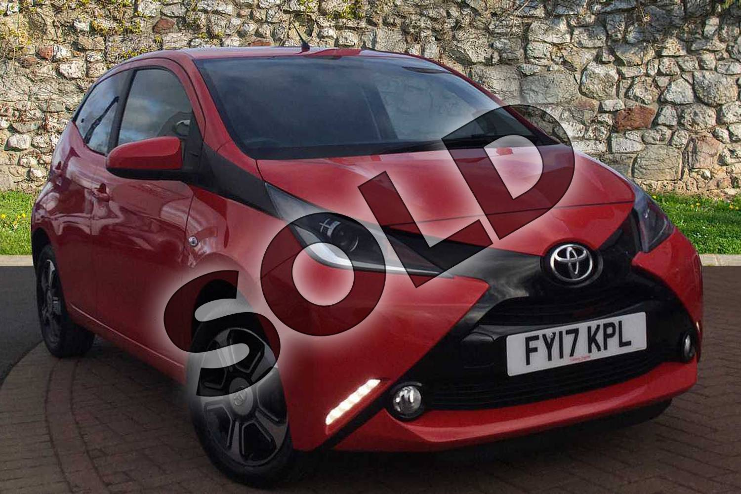 2017 Toyota AYGO Hatchback Special Editions 1.0 VVT-i X-Clusiv 3 5dr in Red Pop at Listers Toyota Grantham