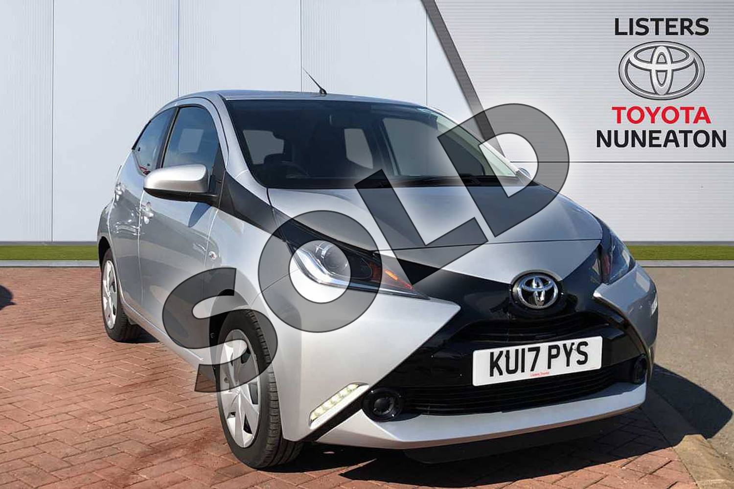 2017 Toyota AYGO Hatchback 1.0 VVT-i X-Play 5dr in Silver at Listers Toyota Nuneaton