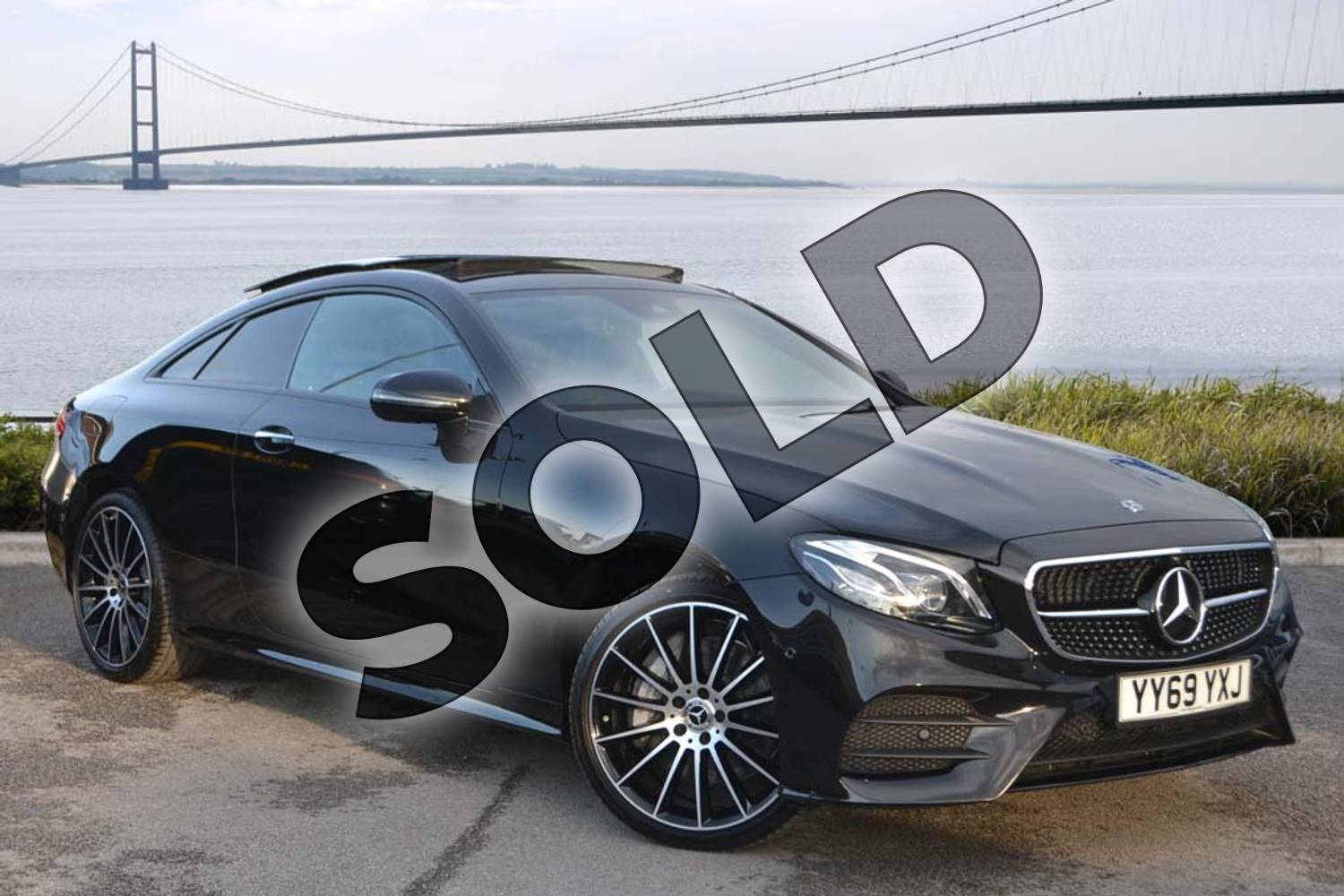 2020 Mercedes-Benz E Class Diesel Coupe E400d 4Matic AMG Line Premium Plus 2dr 9G-Tronic in obsidian black metallic at Mercedes-Benz of Hull