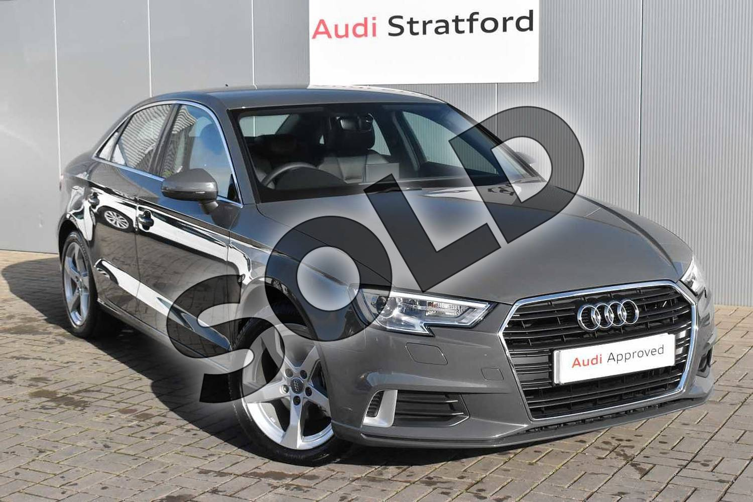 2020 Audi A3 Diesel Saloon 35 TDI Sport 4dr in Nano Grey Metallic at Stratford Audi