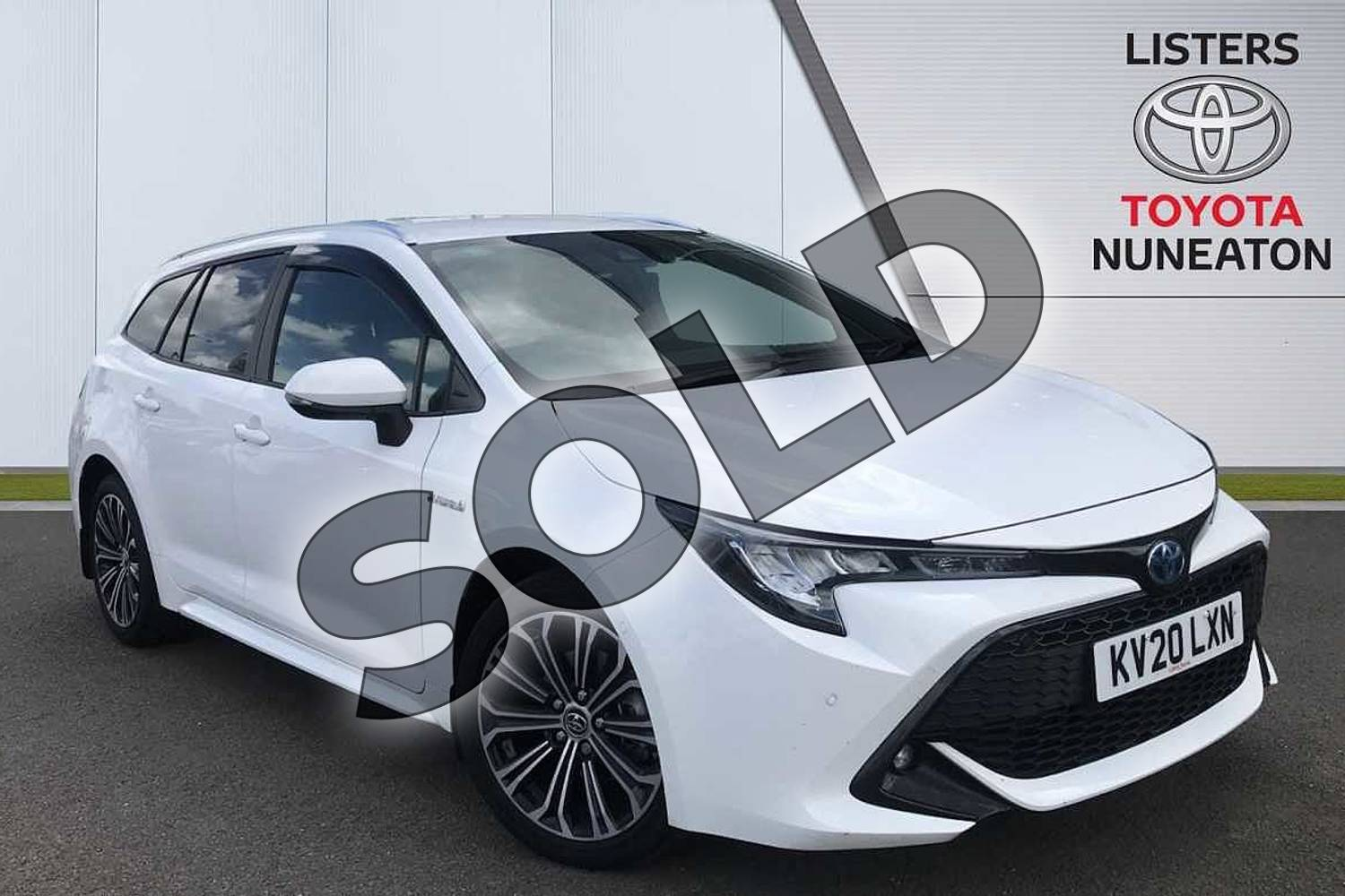 2020 Toyota Corolla Touring Sport 1.8 VVT-i Hybrid Design 5dr CVT in White at Listers Toyota Nuneaton