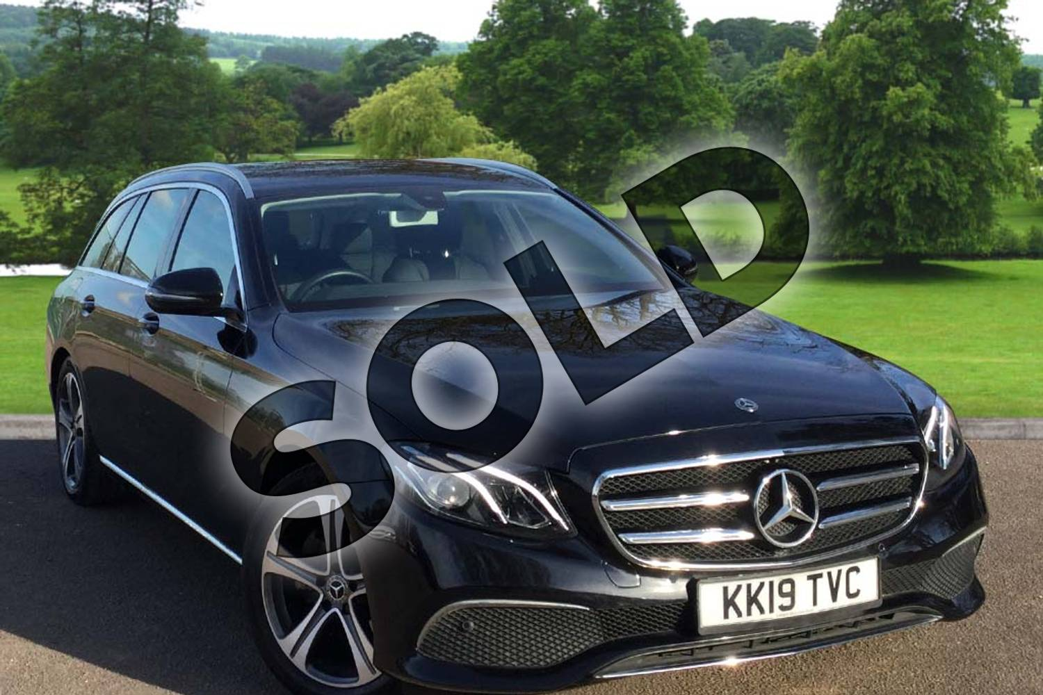2019 Mercedes-Benz E Class Diesel Estate E220d SE 5dr 9G-Tronic in obsidian black metallic at Mercedes-Benz of Grimsby